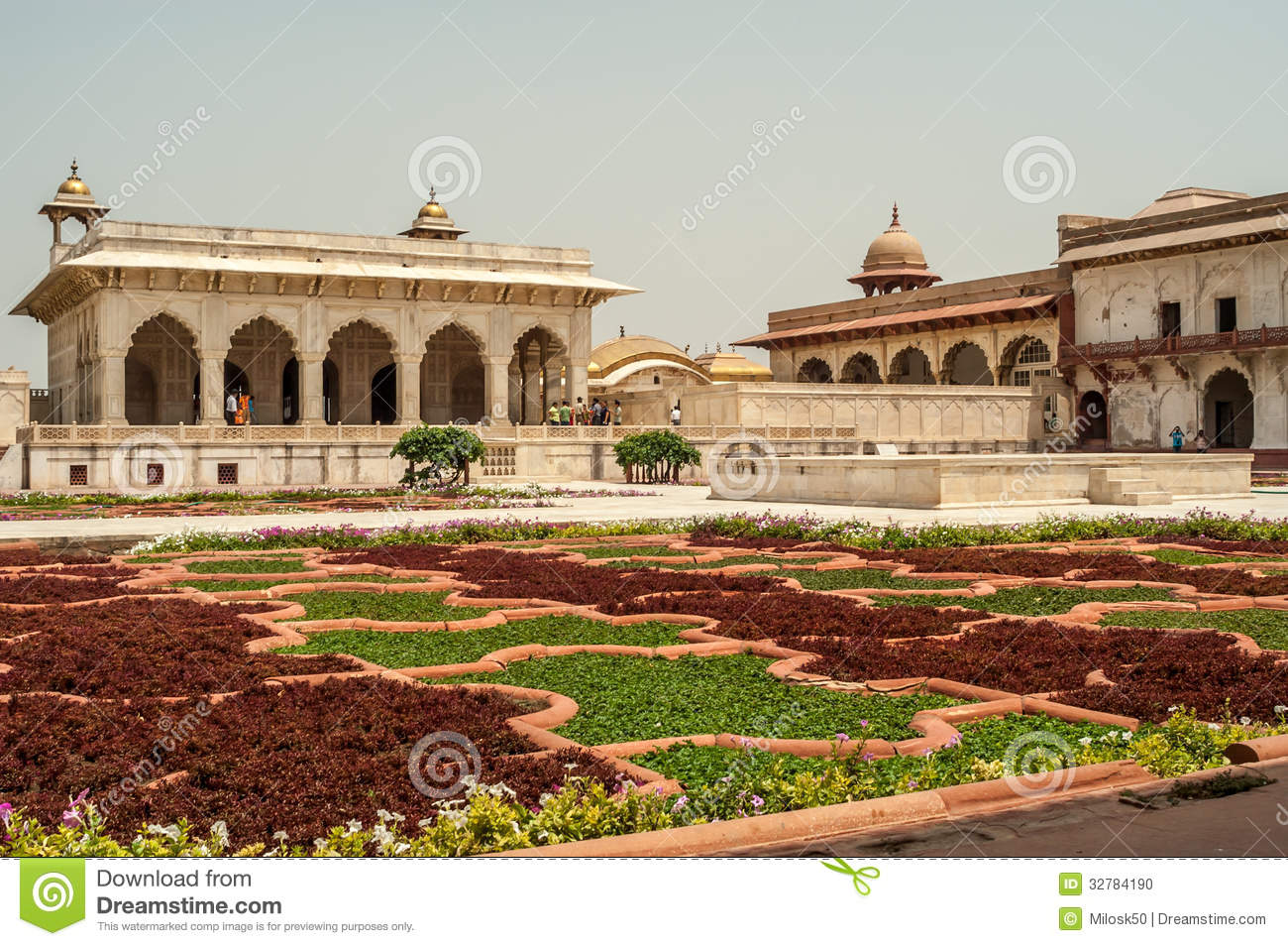Garten in Agra-Fort