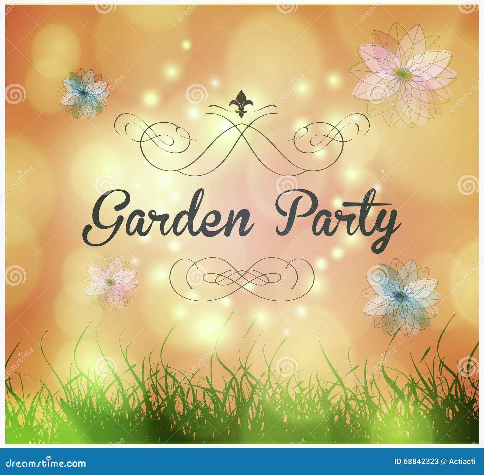 gartenfest-einladung vektor abbildung - bild: 68842323, Einladung