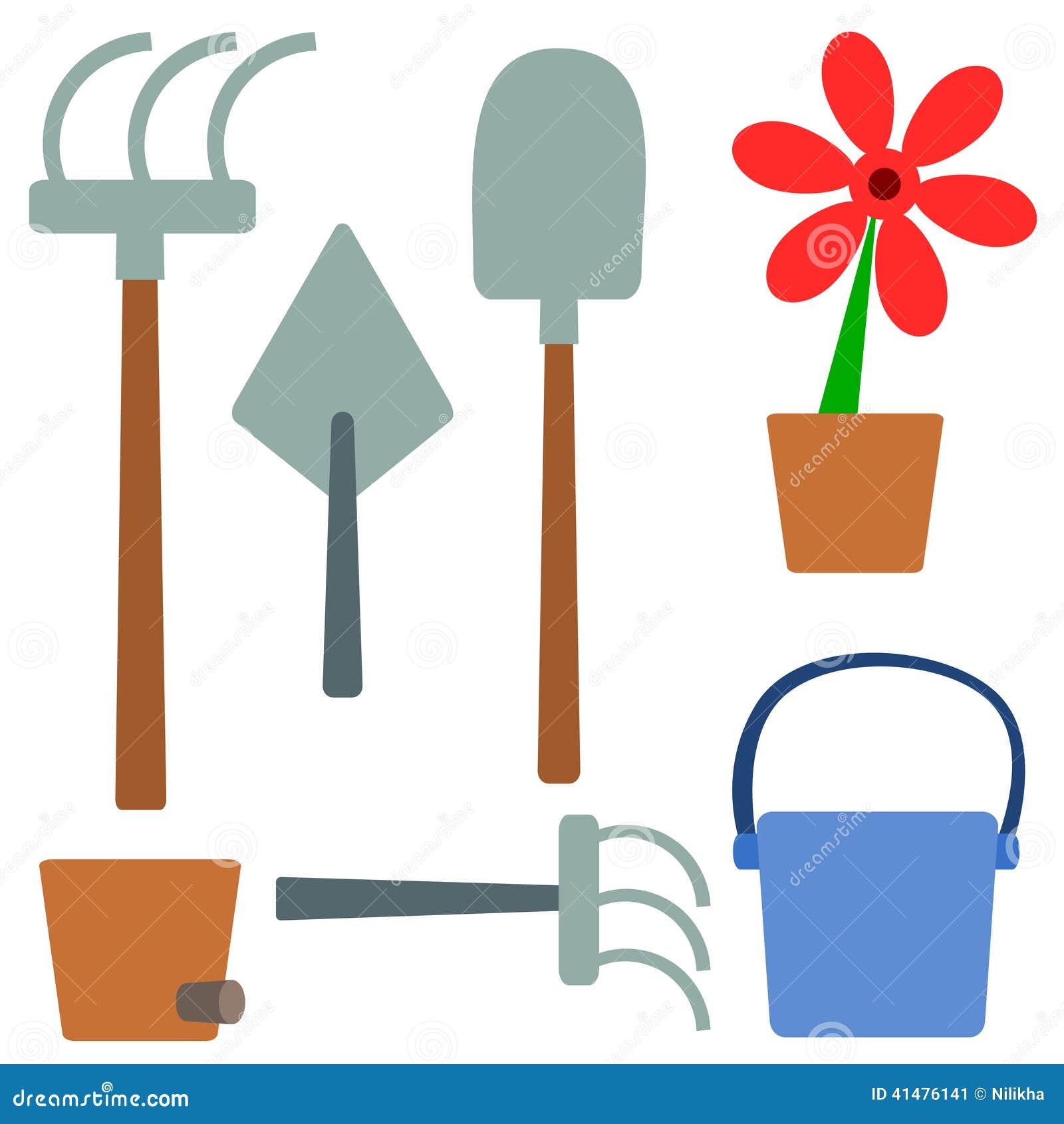 Gartensachen Stock Abbildung Illustration Von Blume 41476141