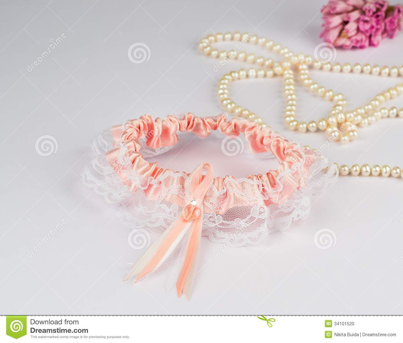 Garter Of The Bride Stock Photo. Image Of Belt, Beautiful