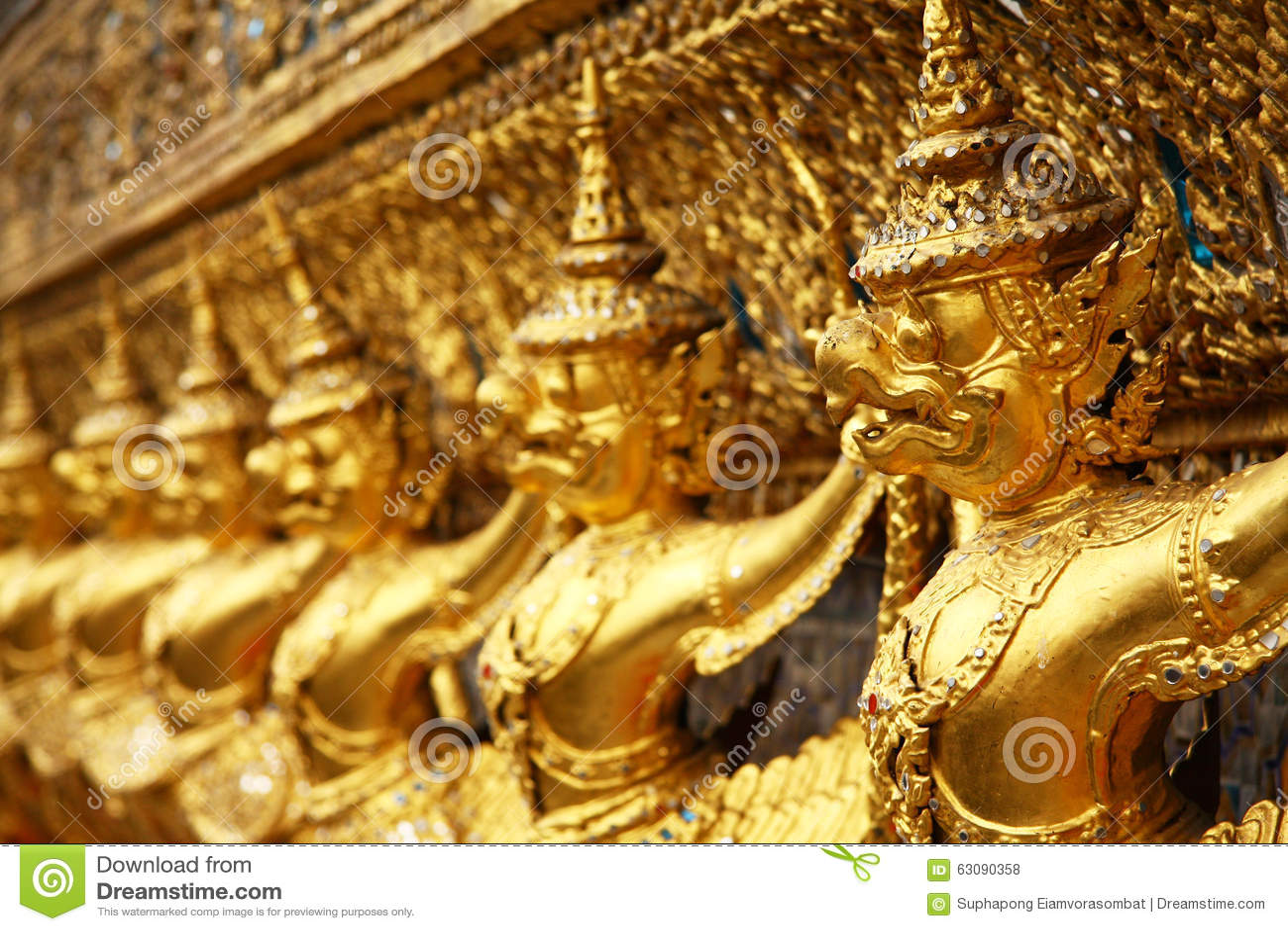 Download Garuda photo stock. Image du d0, blanc, asie, temple - 63090358