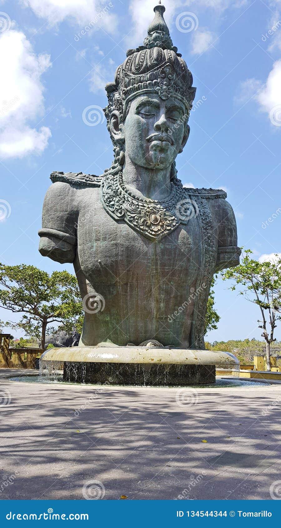 Garuda Wisnu Kencana Statue Bali Cultural Park On Tropical Island