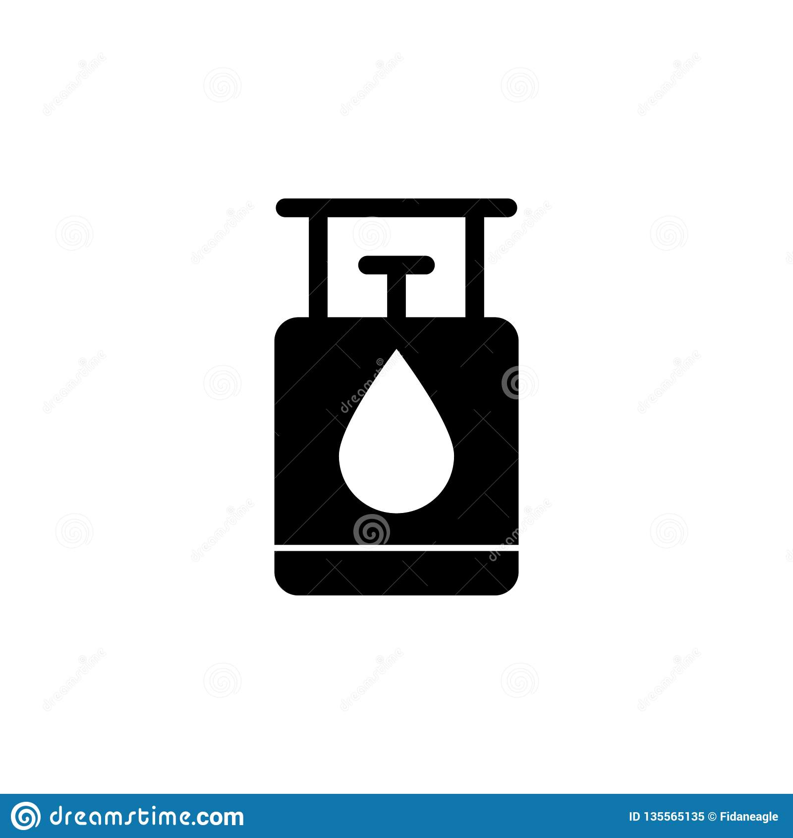 Gas, balloon, oil icon on white background. Can be used for web, logo, mobile app, UI UX