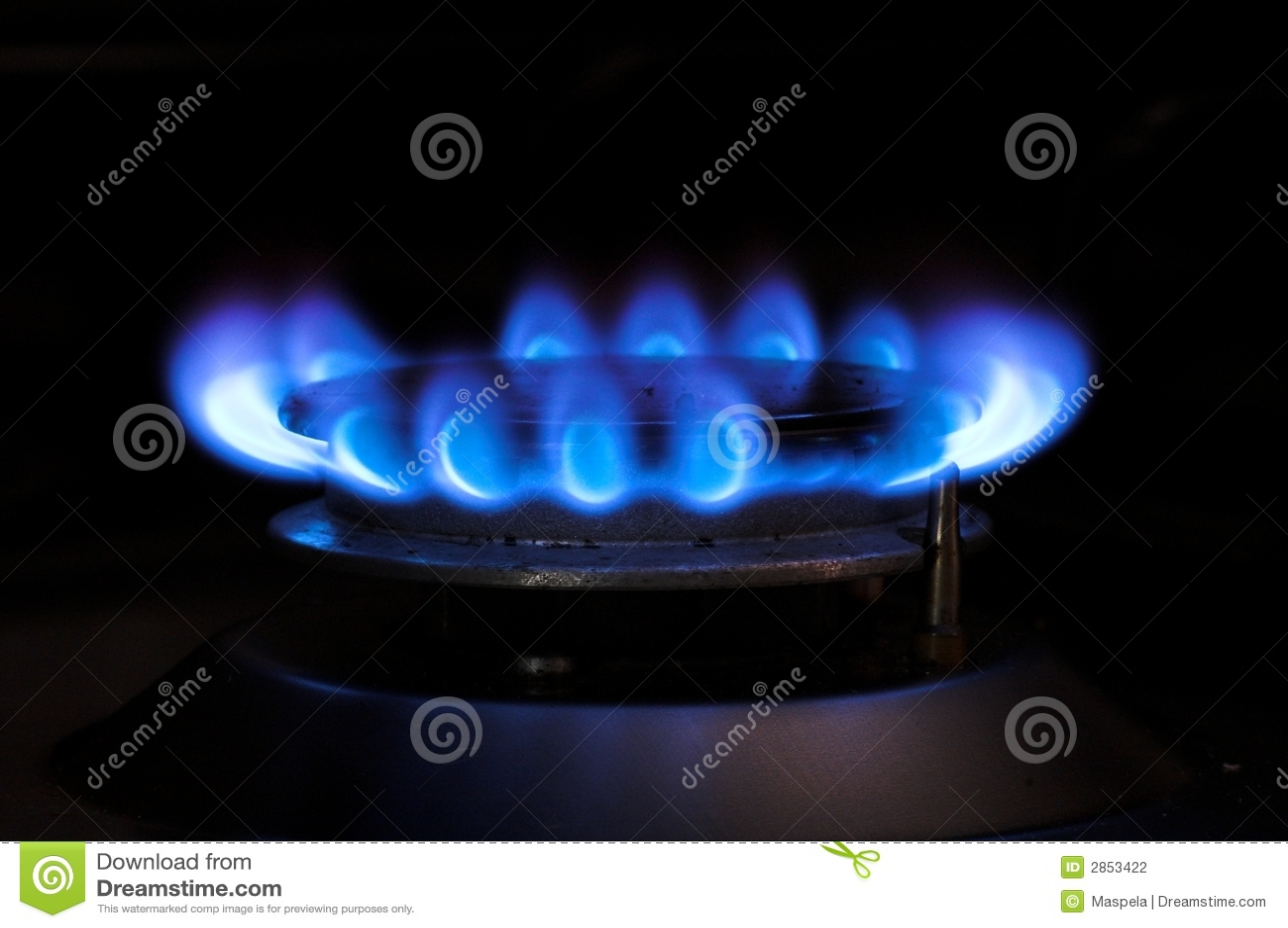 gas blaue flamme stockfotografie bild 2853422. Black Bedroom Furniture Sets. Home Design Ideas