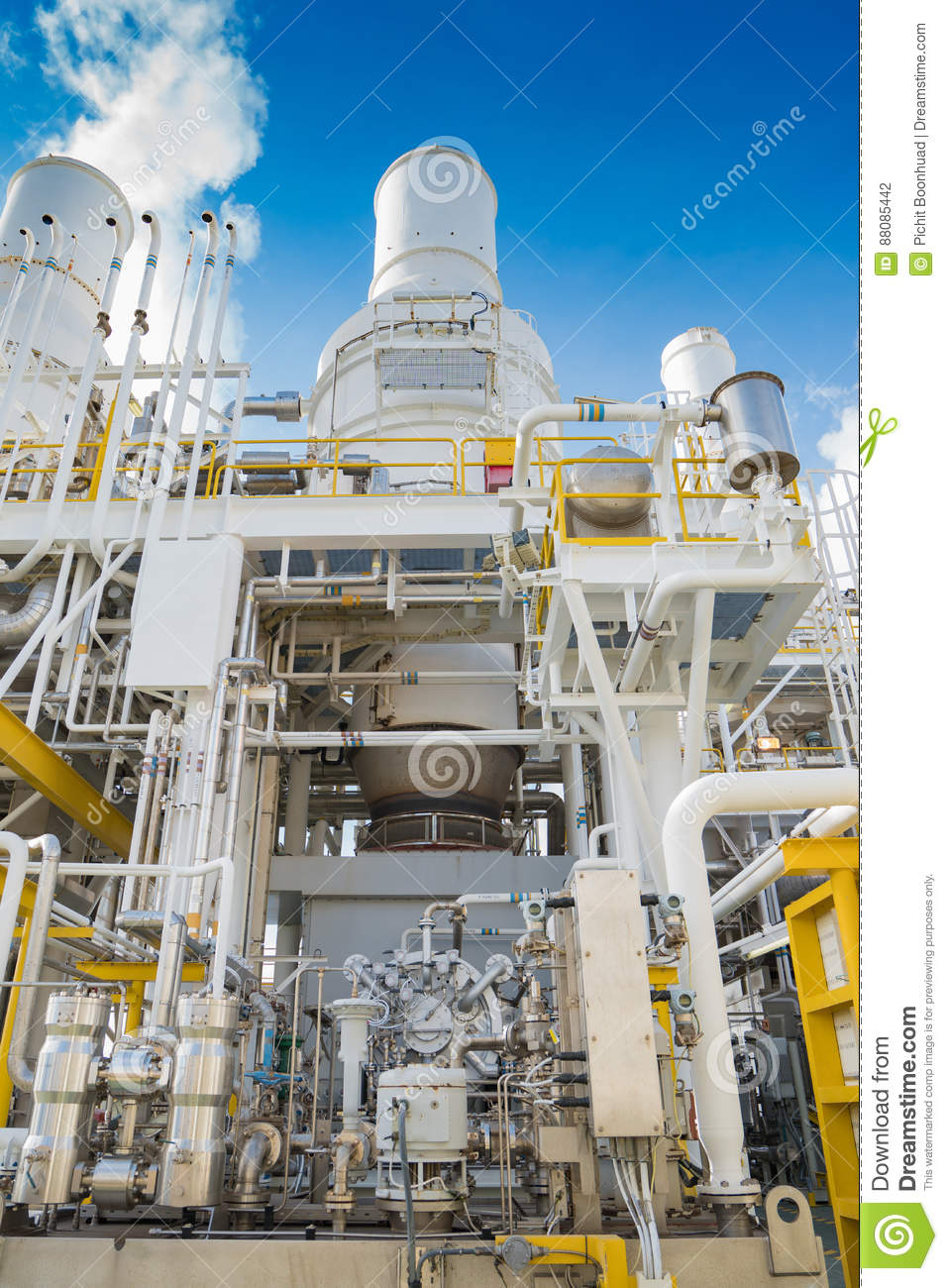 Gas Compressor Bundle And Gas Turbine Engine At Offshore