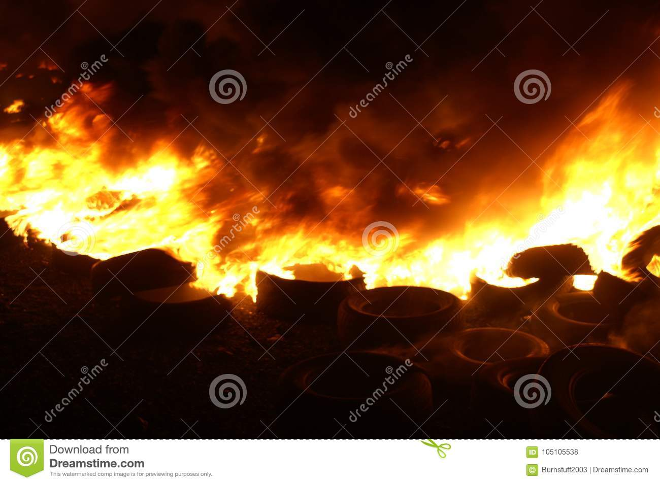 Gas explosion, fire and destruction, large incident,