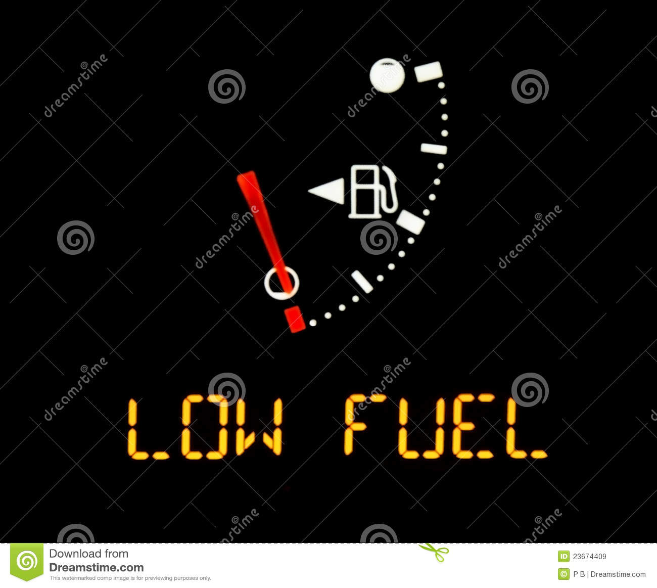Low Gas Prices >> Gas Gauge Royalty Free Stock Images - Image: 23674409