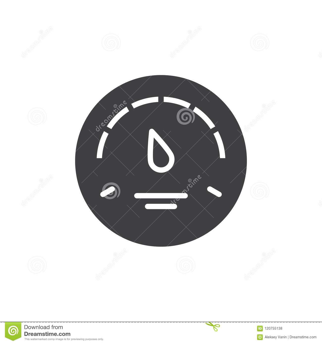 Gas Gauge Vector Icon Stock Vector Illustration Of Design 120755138