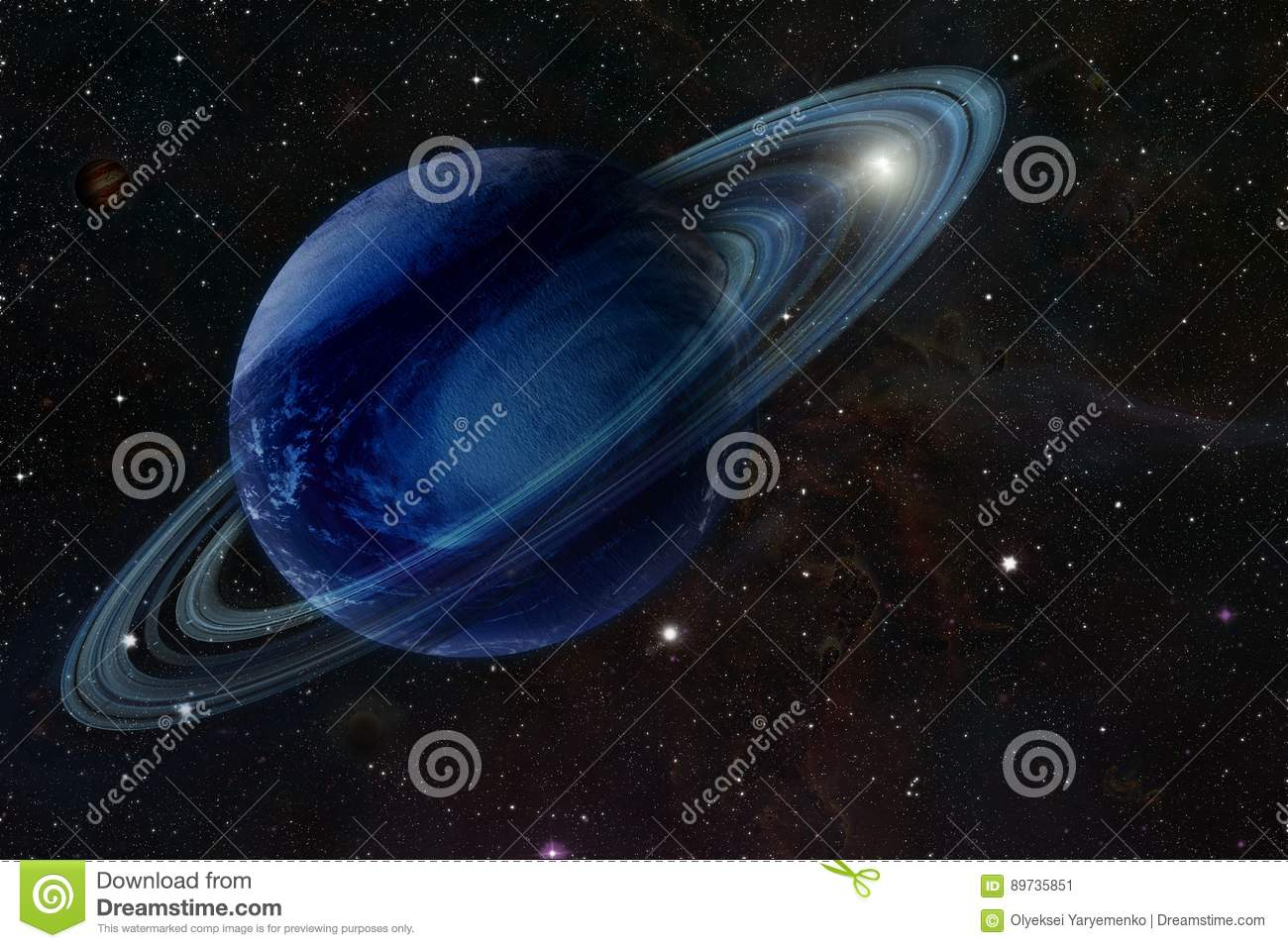 The gas giant in space