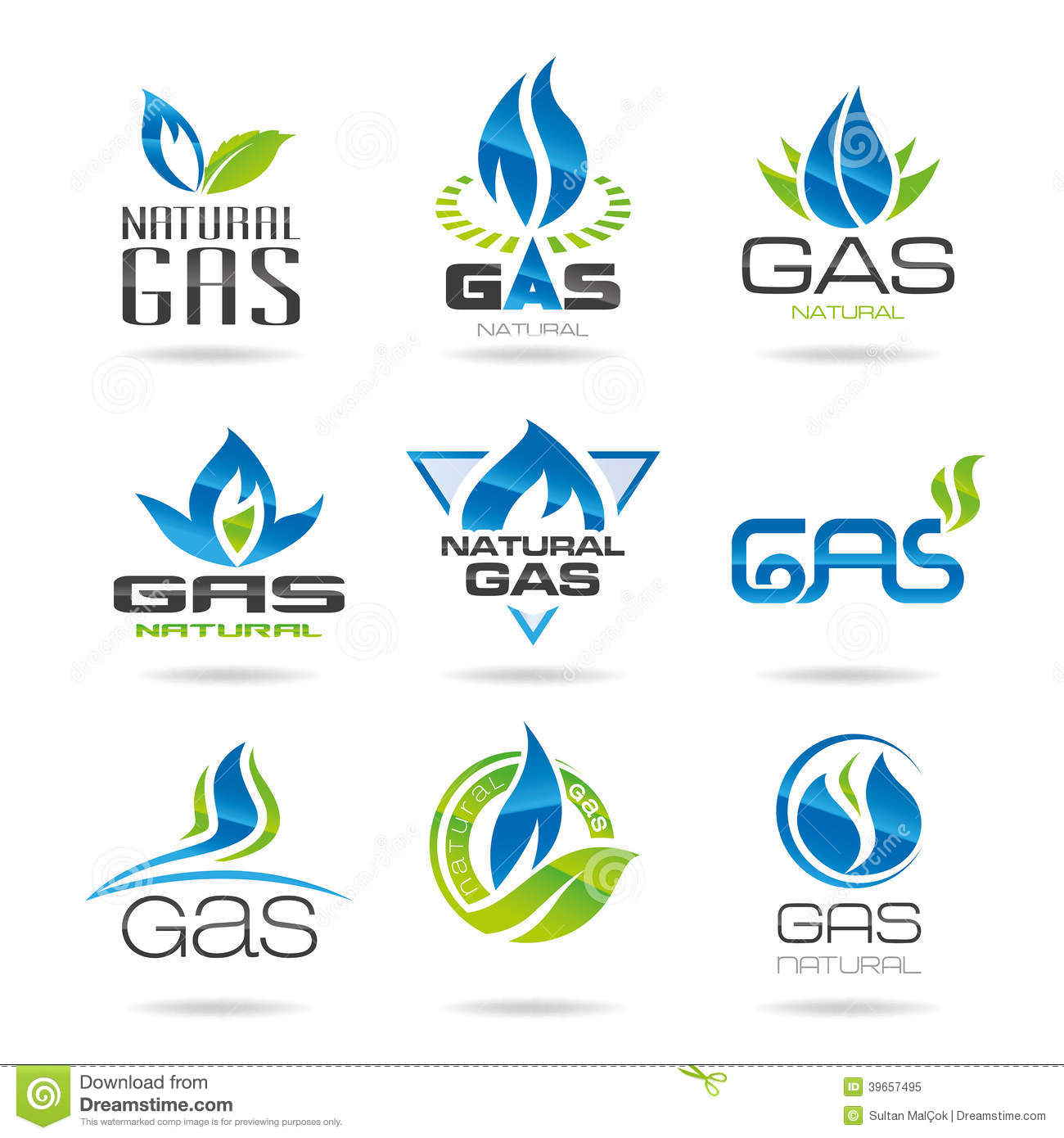gas industry symbols stock vector image 39657495