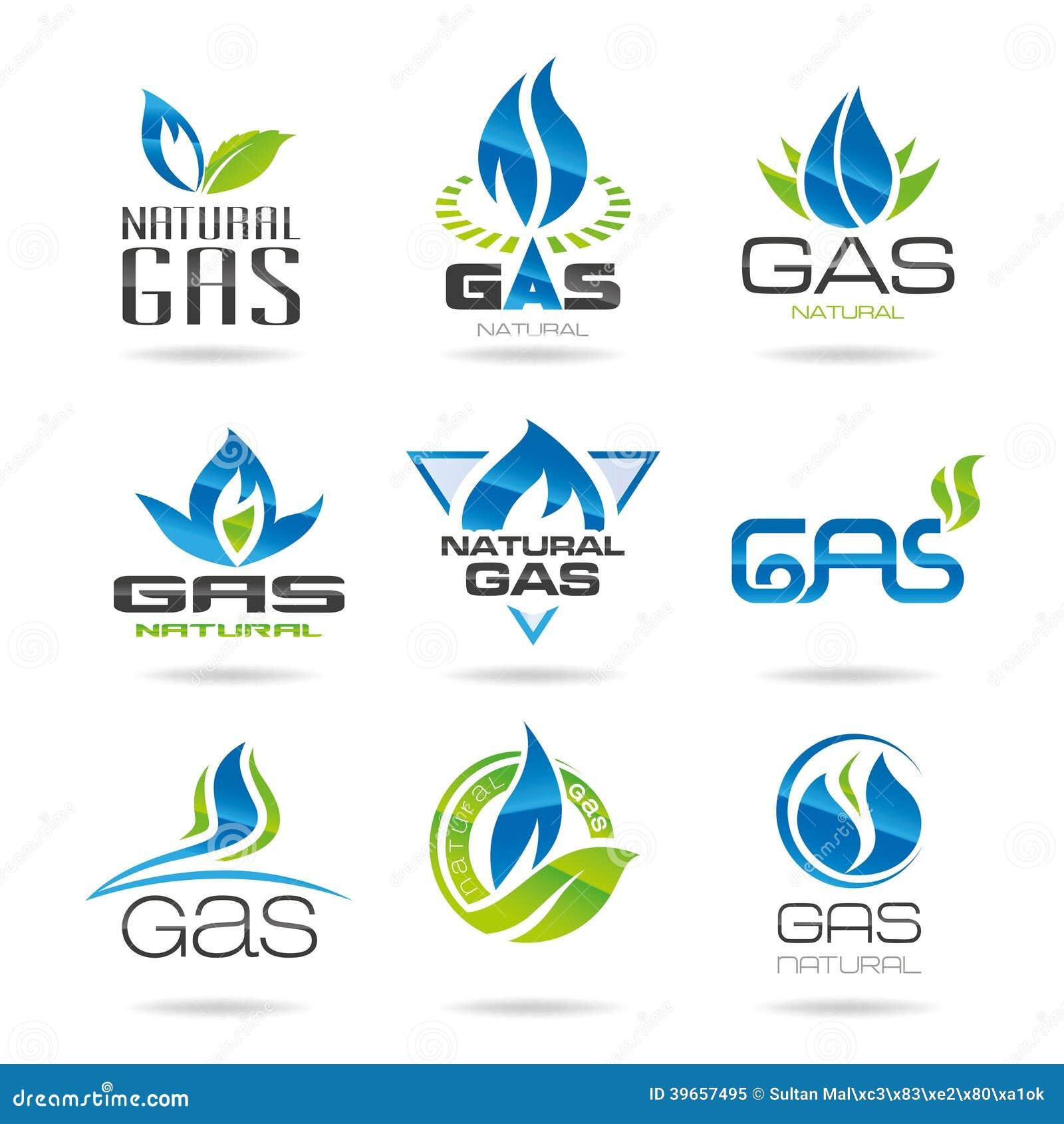 gas industry symbols stock vector image 39657495