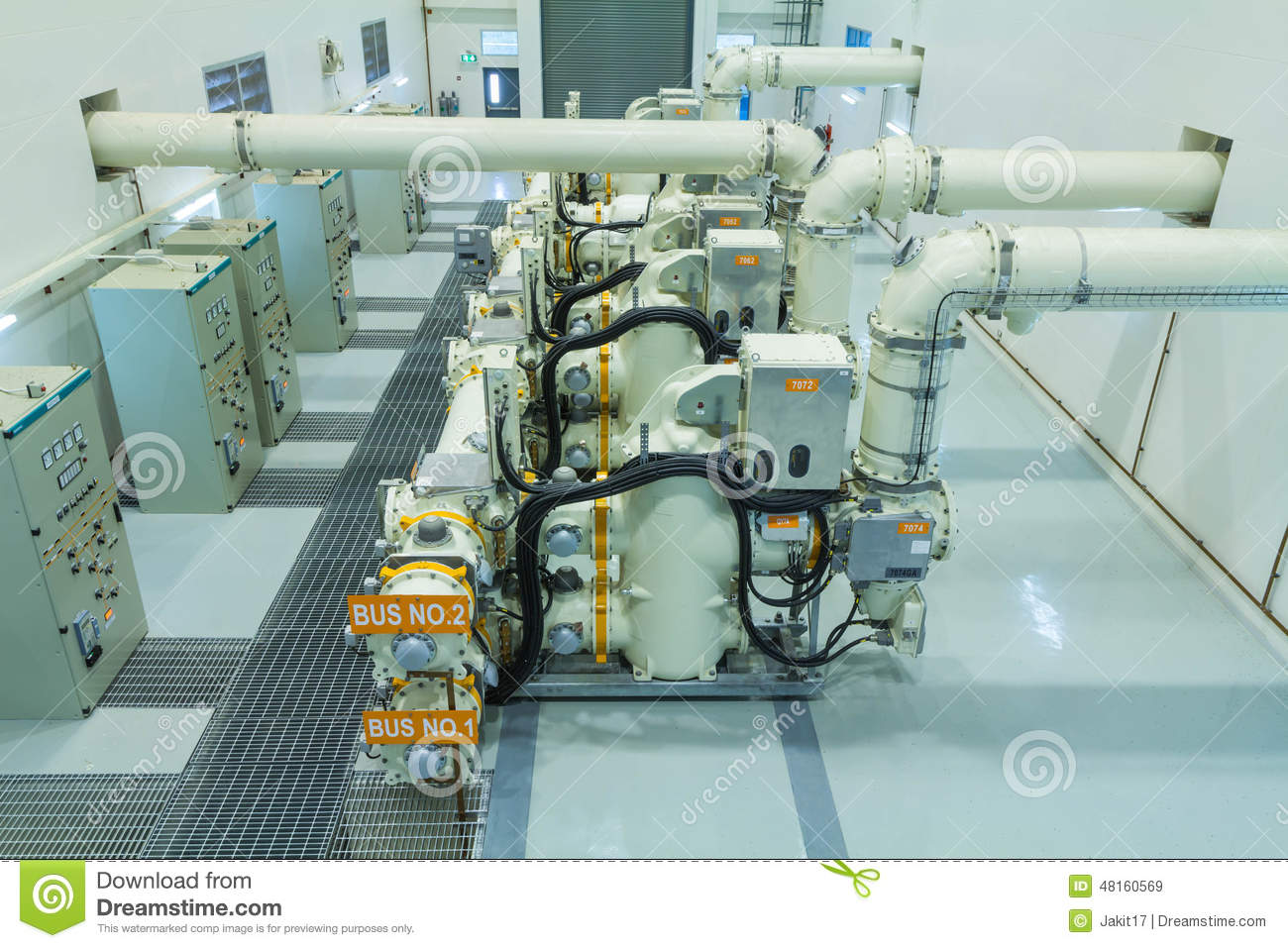 Gas Insulated Switchgear editorial stock image  Image of facility