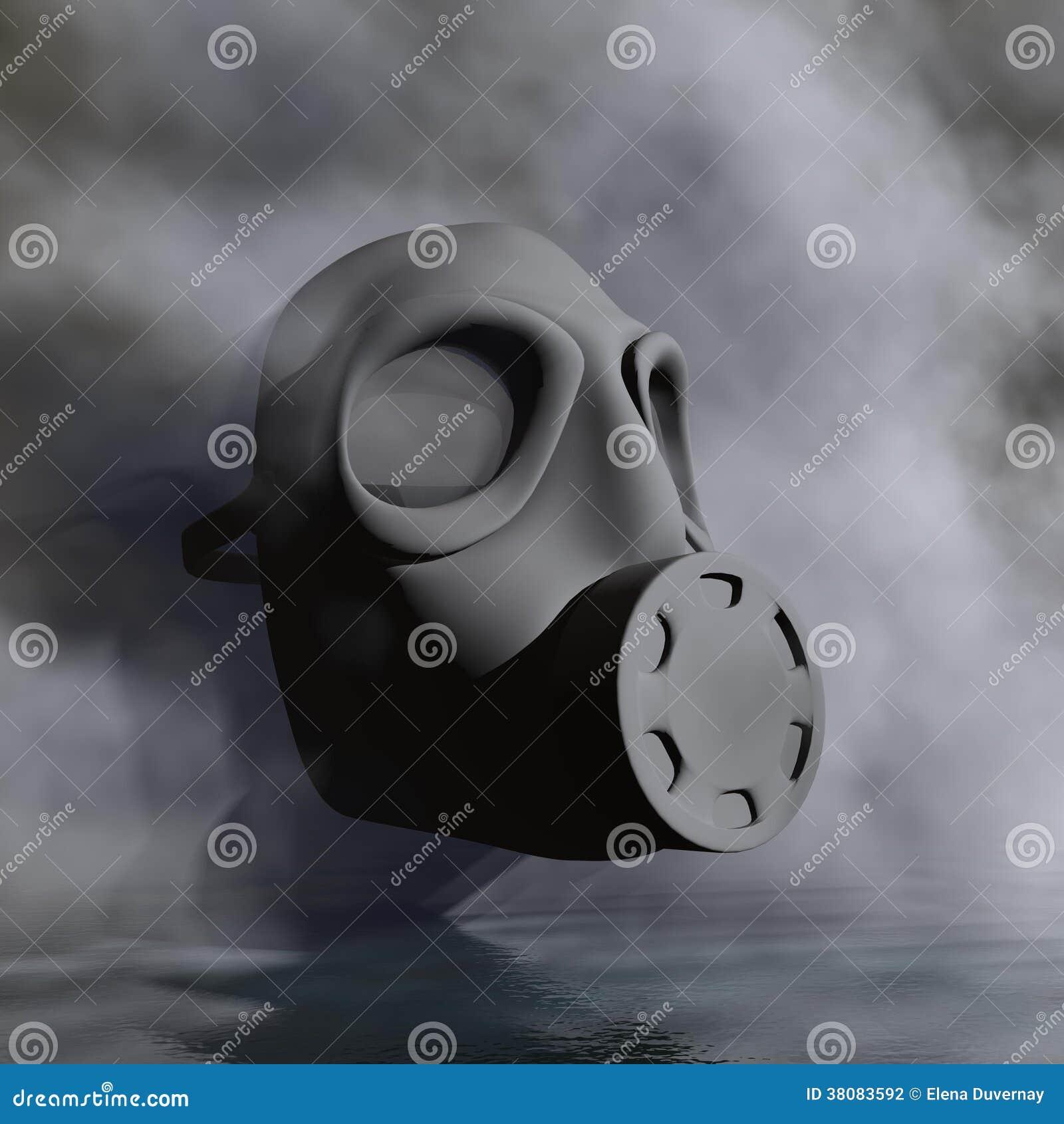 Gas Mask 3d Render Stock Illustration Illustration Of