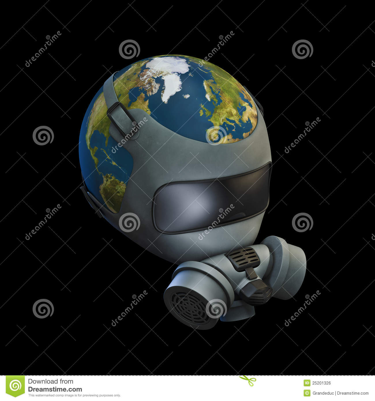 Gas Mask Earth Stock Illustration Image Of Fuel