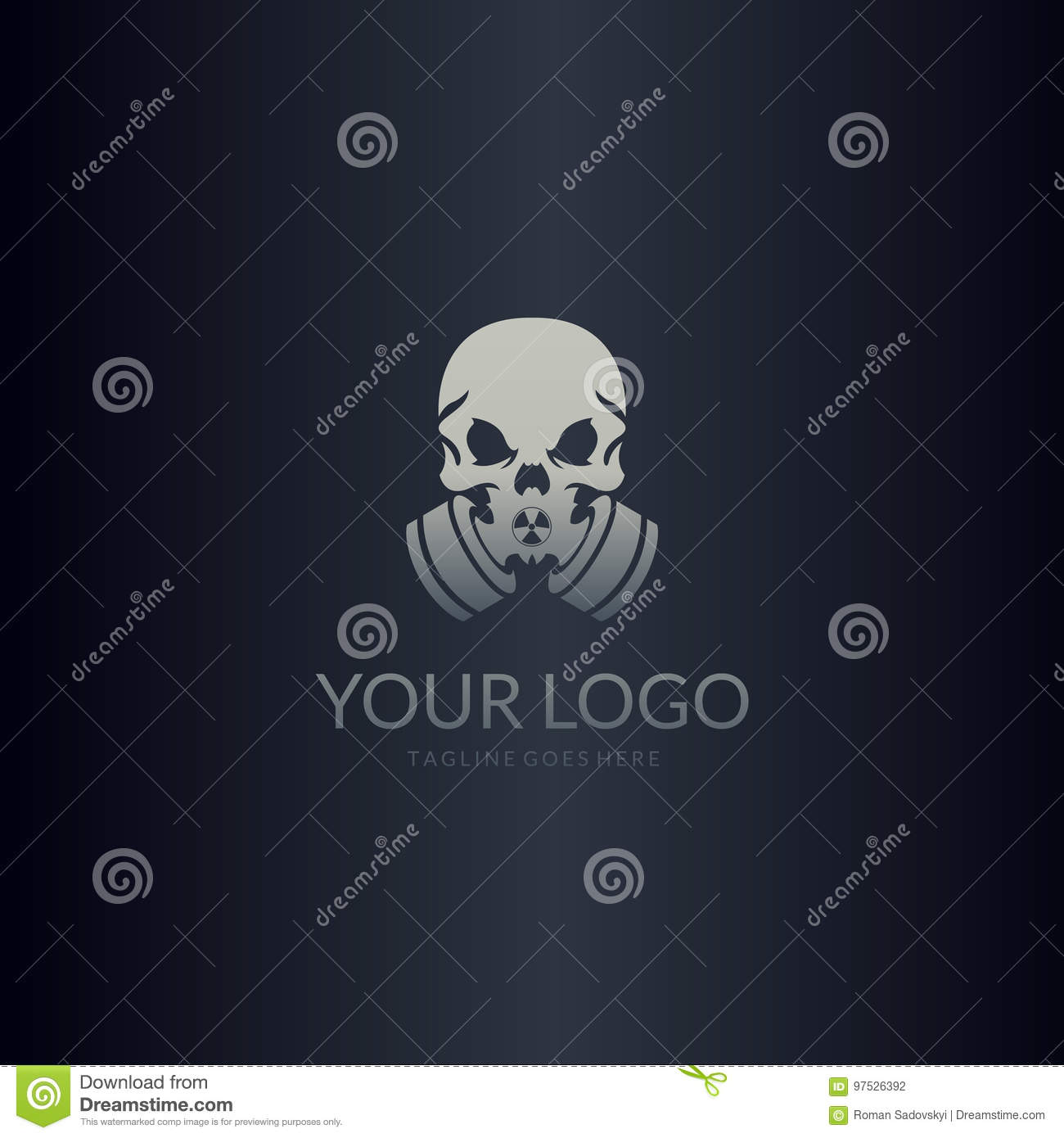 gas mask logo skull with gas mask stock vector illustration of