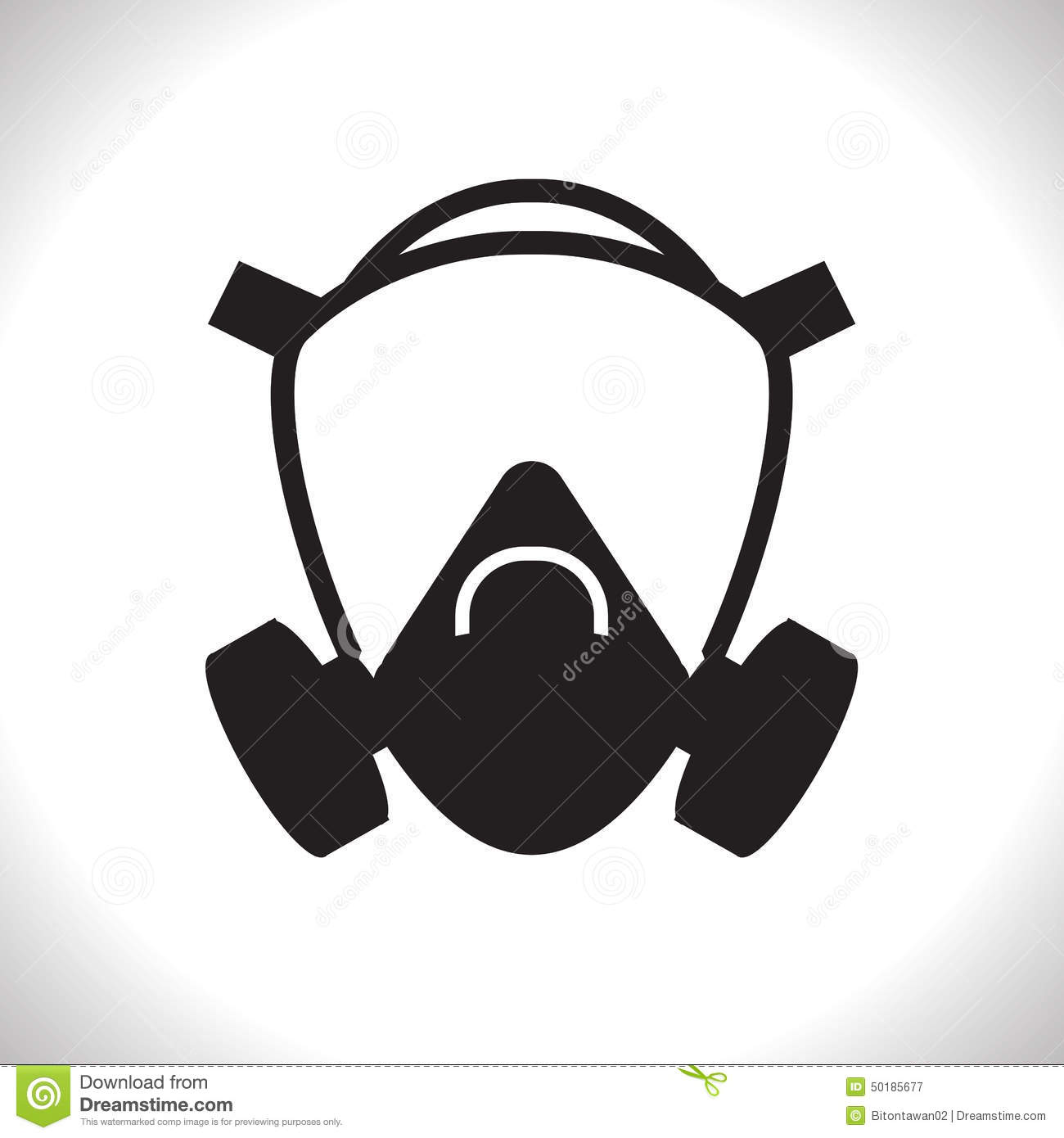 Gas mask stock vector. Illustration of chemical, medical ...