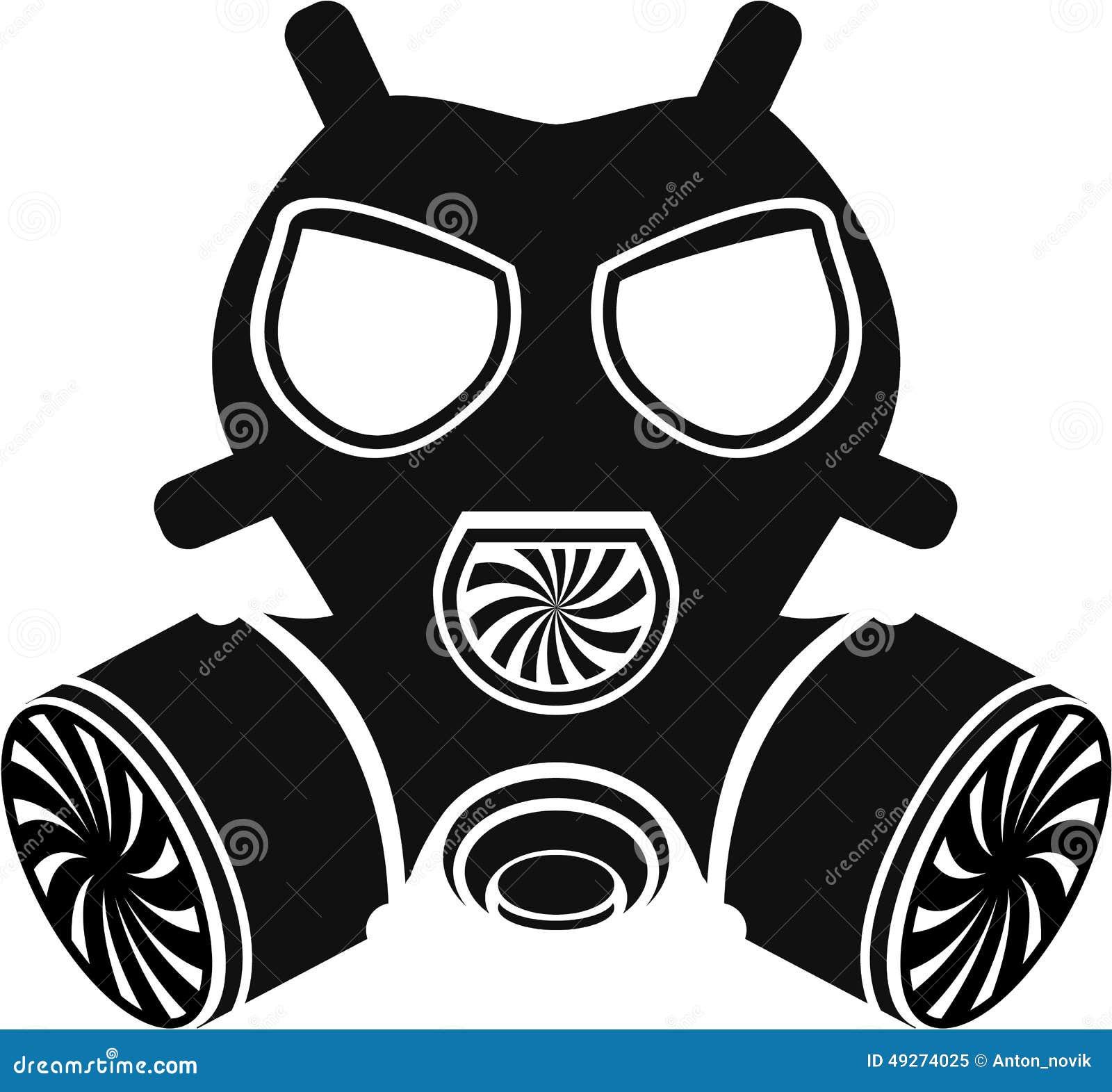 gas mask vector stock vector illustration of background 49274025 rh dreamstime com Cartoon Gas Mask Skull Gas Mask