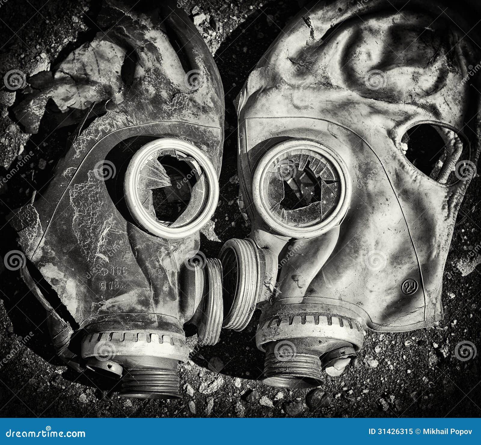 Gas Masks. Stock Image. Image Of Disaster, Destruction