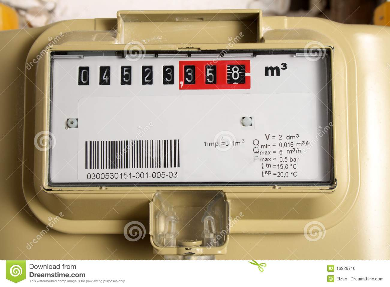how to read a gas metre
