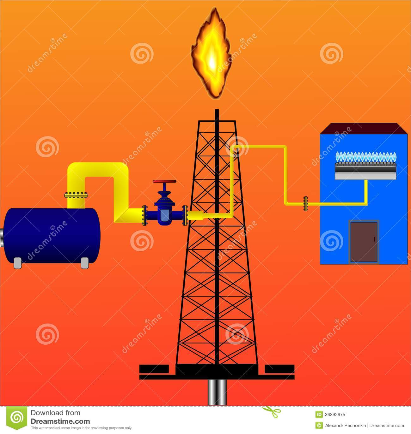 Download Gas naturale illustrazione vettoriale. Illustrazione di nero - 36892675