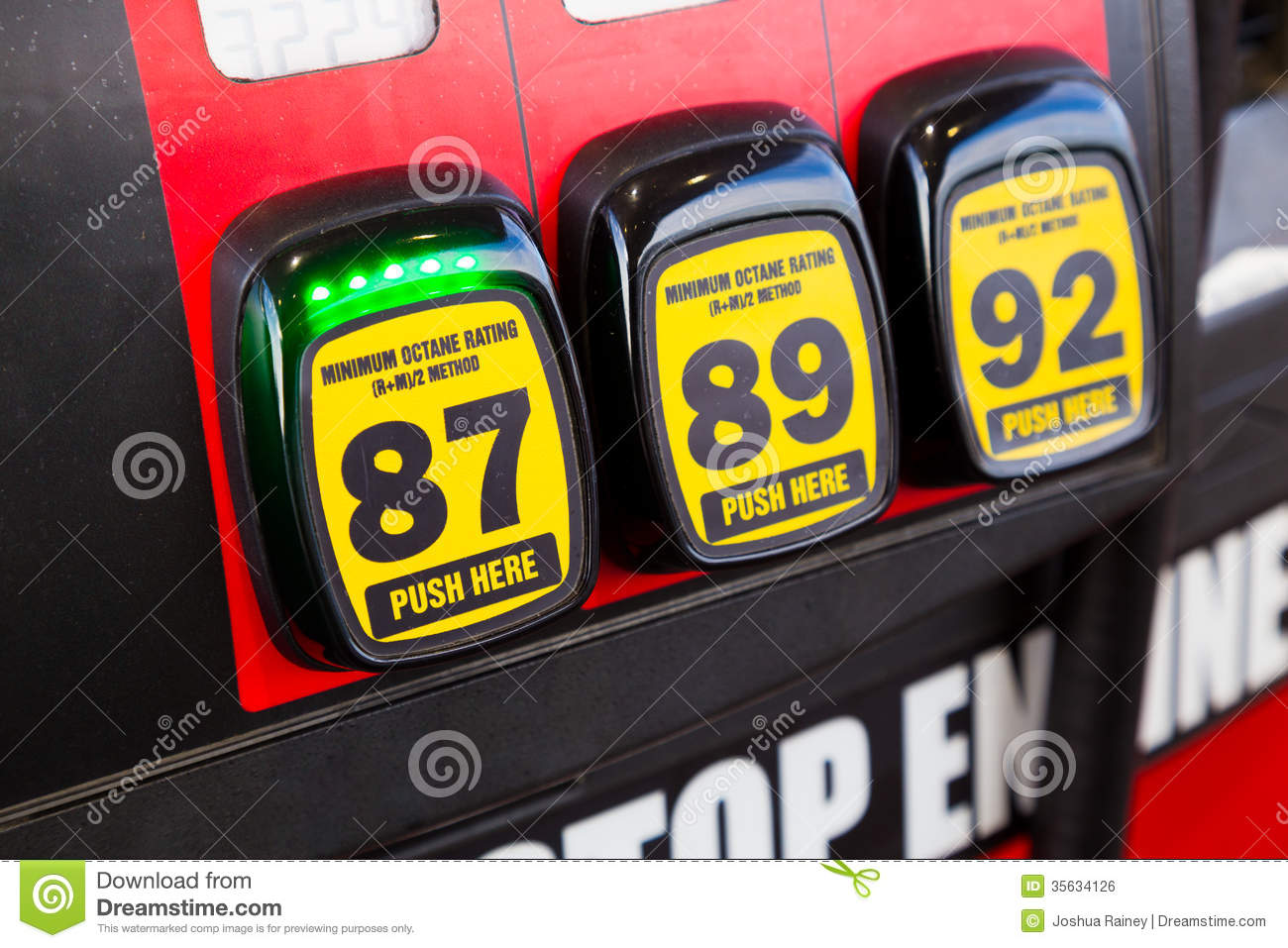 Cheapest Car On Gas >> Gas Octane Options Royalty Free Stock Image - Image: 35634126