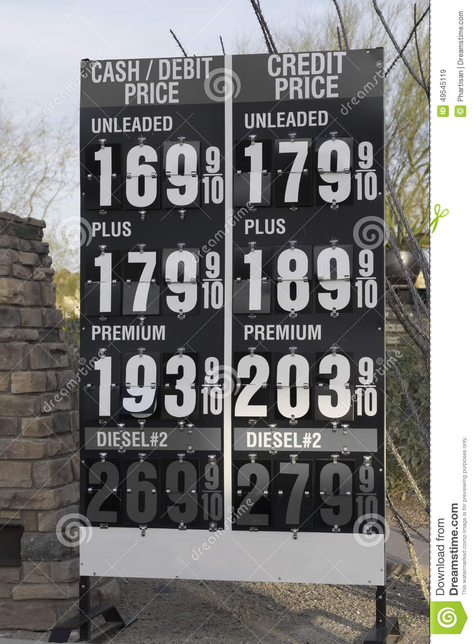 High Gasoline Prices At A Gas Station Editorial Image Cartoondealer Com 19800000