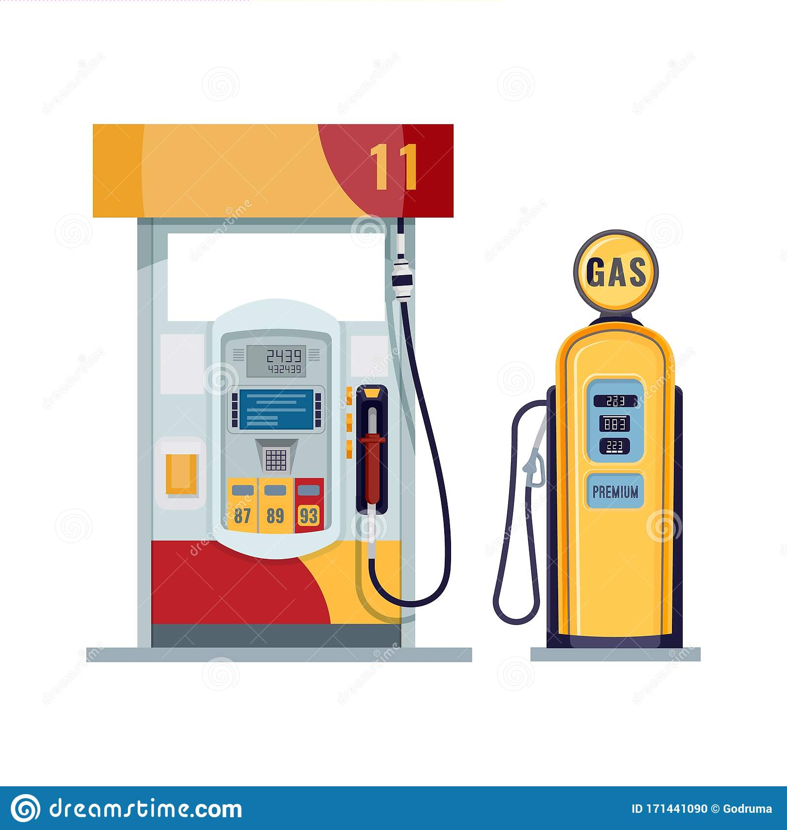 Gas Or Petrol Station  Gasoline  Oil  Fuel  Diesel Pump