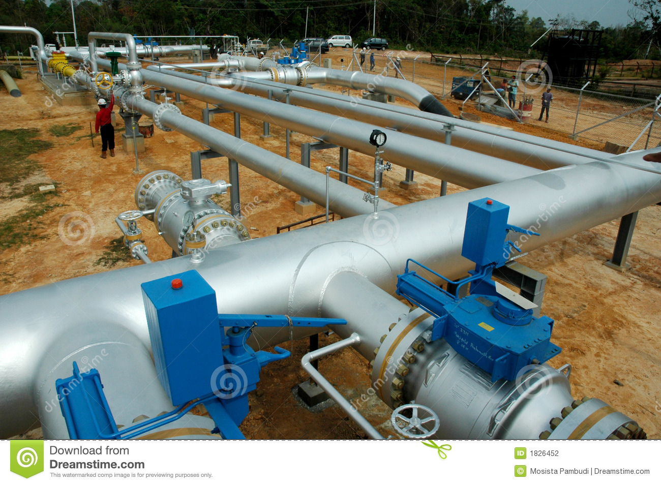 Gas Pipes Network Stock Photo Image Of Field Fuel
