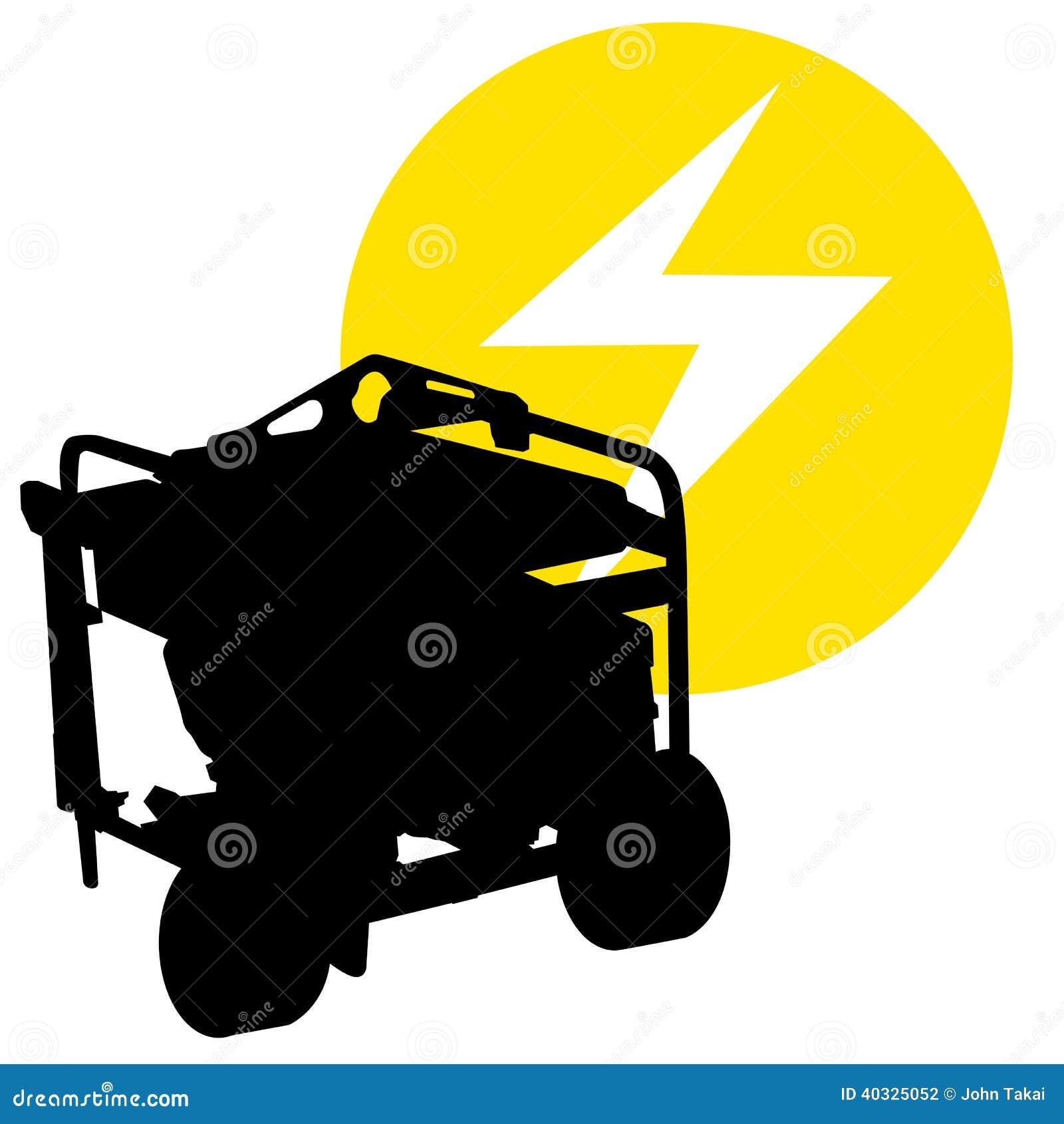 Gas Powered Generator Stock Vector Image 40325052