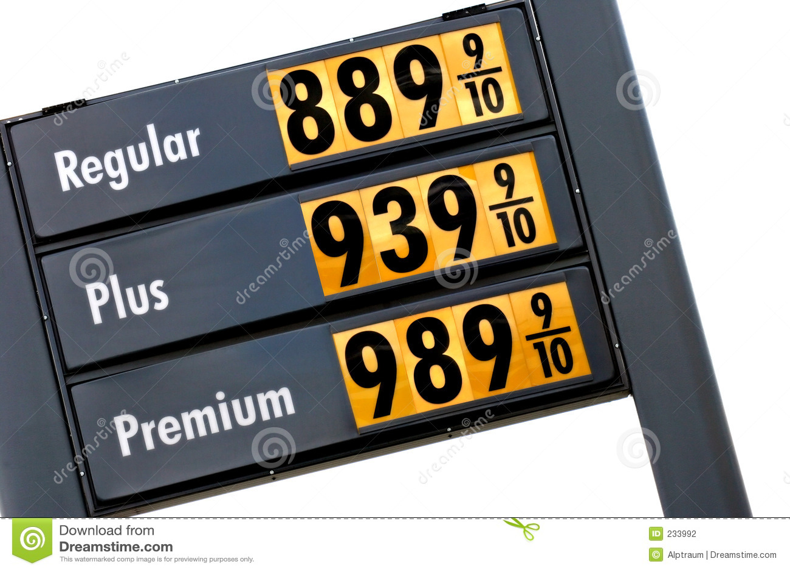 Gas prices tomorrow