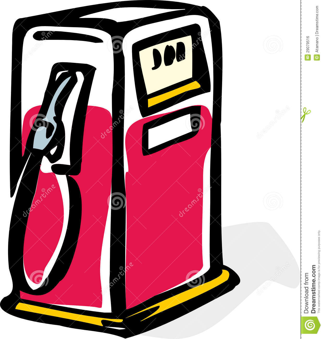gas pump stock vector illustration of unleaded pollution 29079516 rh dreamstime com gas pump clipart free gas station clipart free