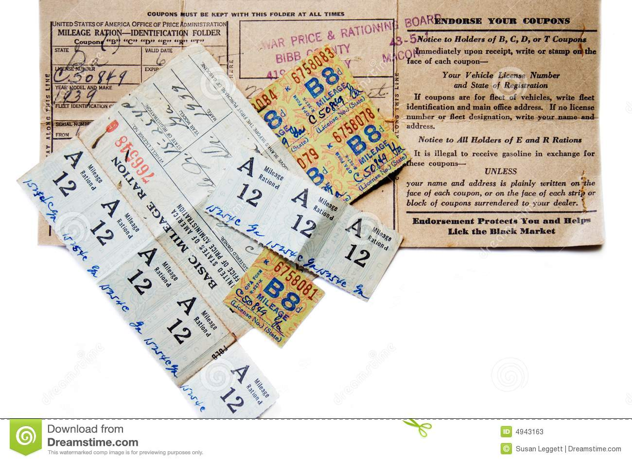 Gas Ration Coupons
