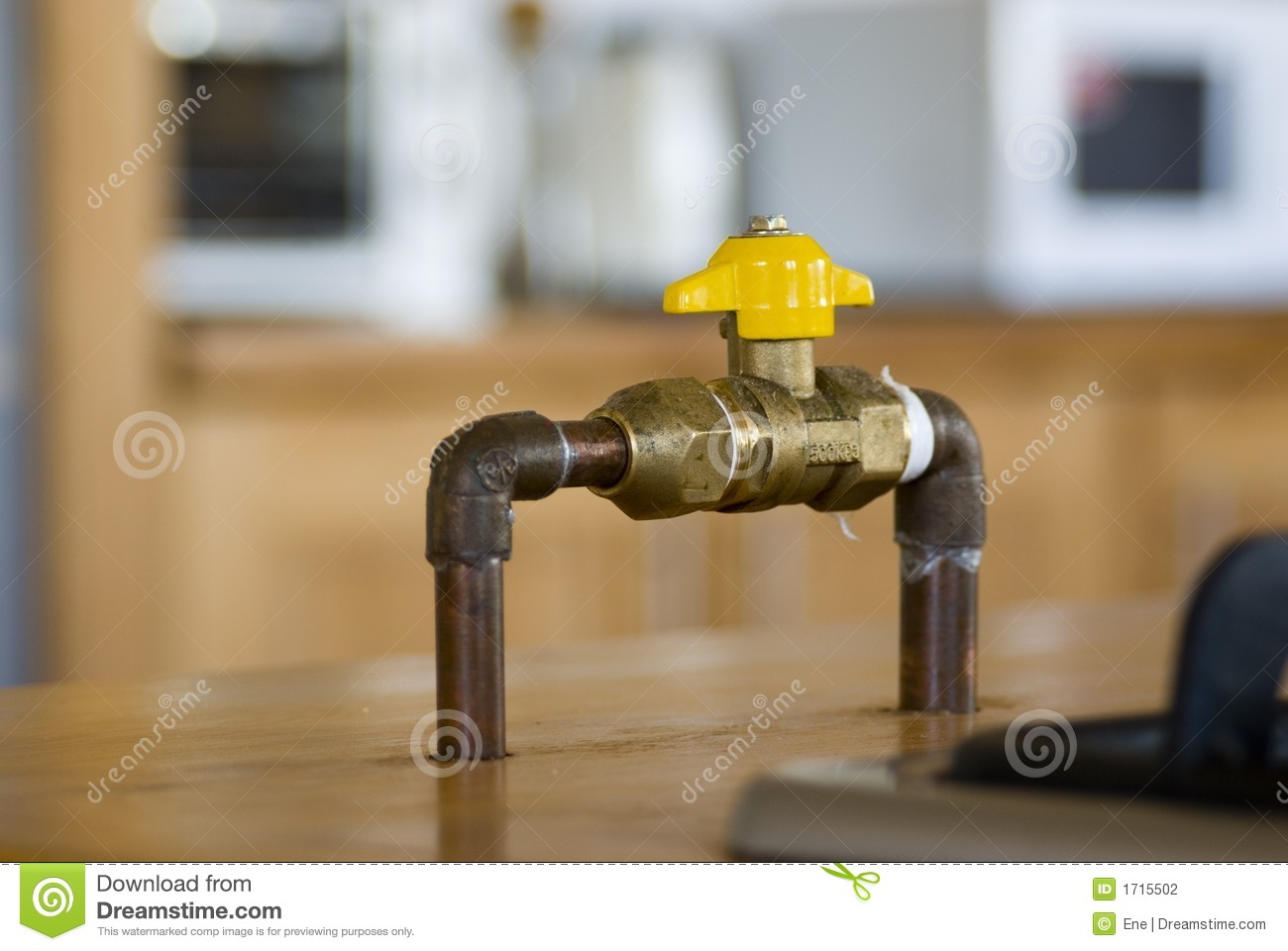 Gas Shut Off Valve Stock Photo Image Of Connection