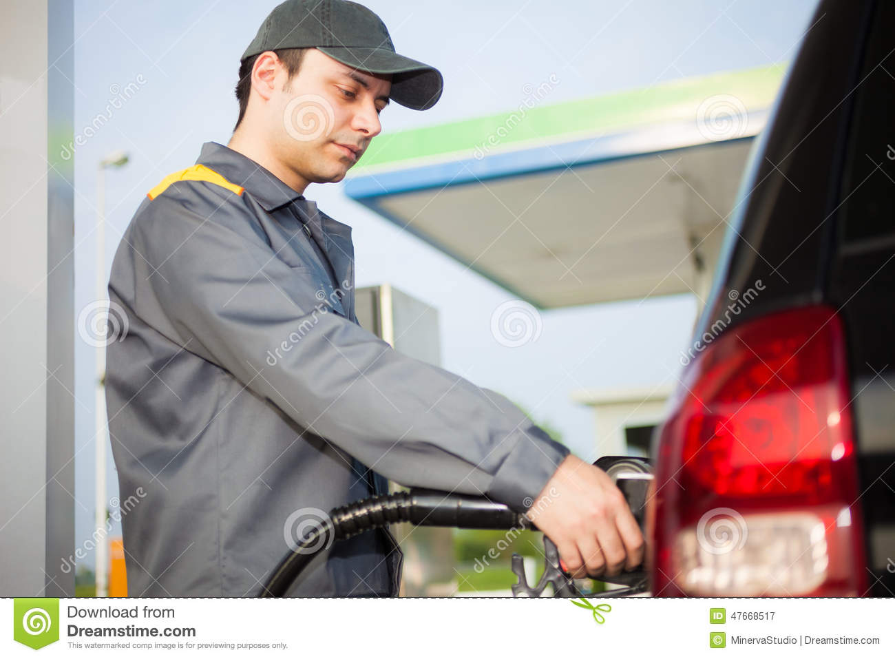 Gas Station Attendant Stock Image - Image: 38414361