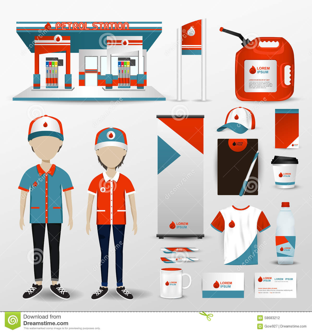 Gas Station Business Brand Design For Employee Uniform