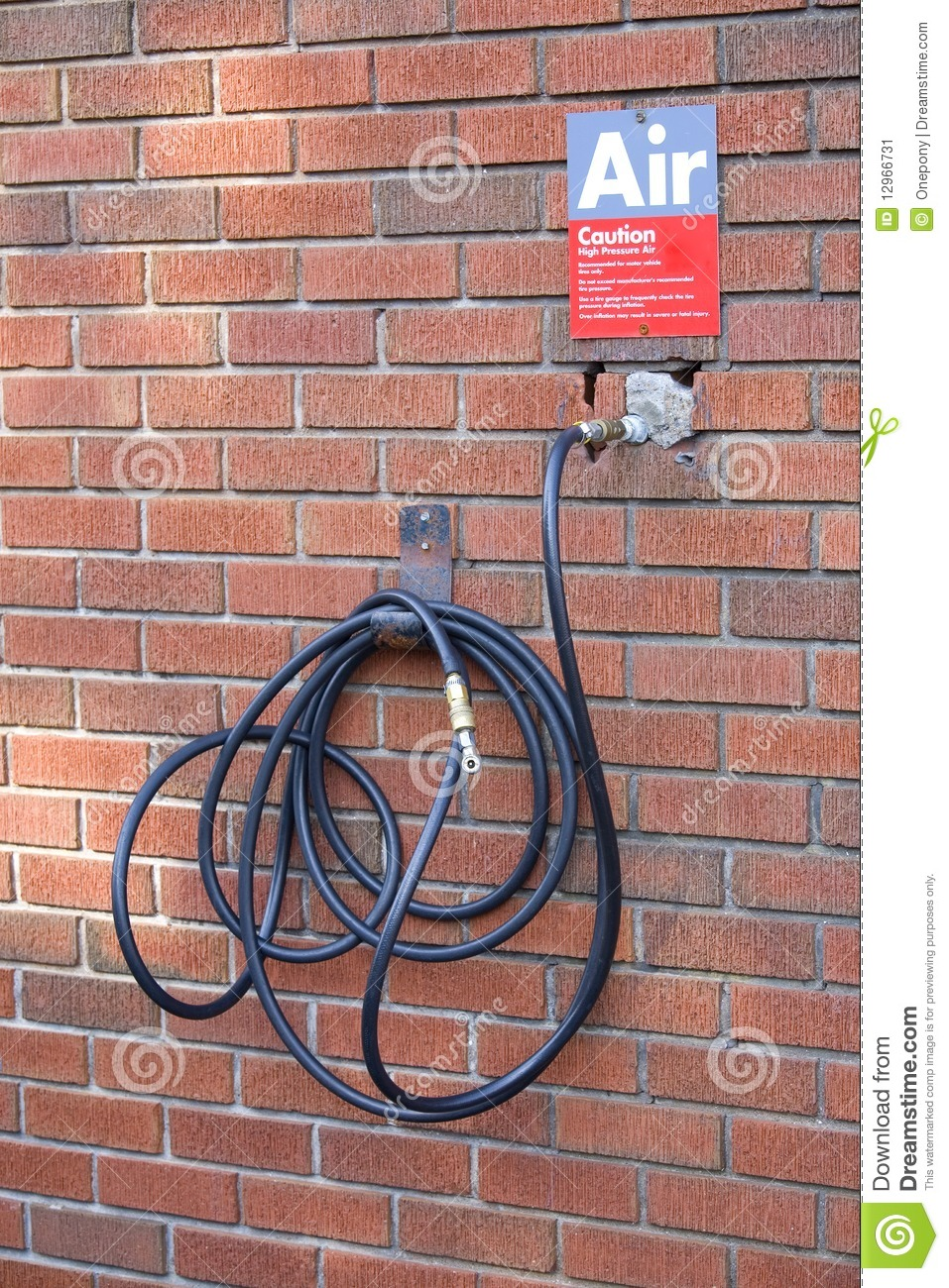 Gas Station Compressed Air Hose Stock Image Image Of
