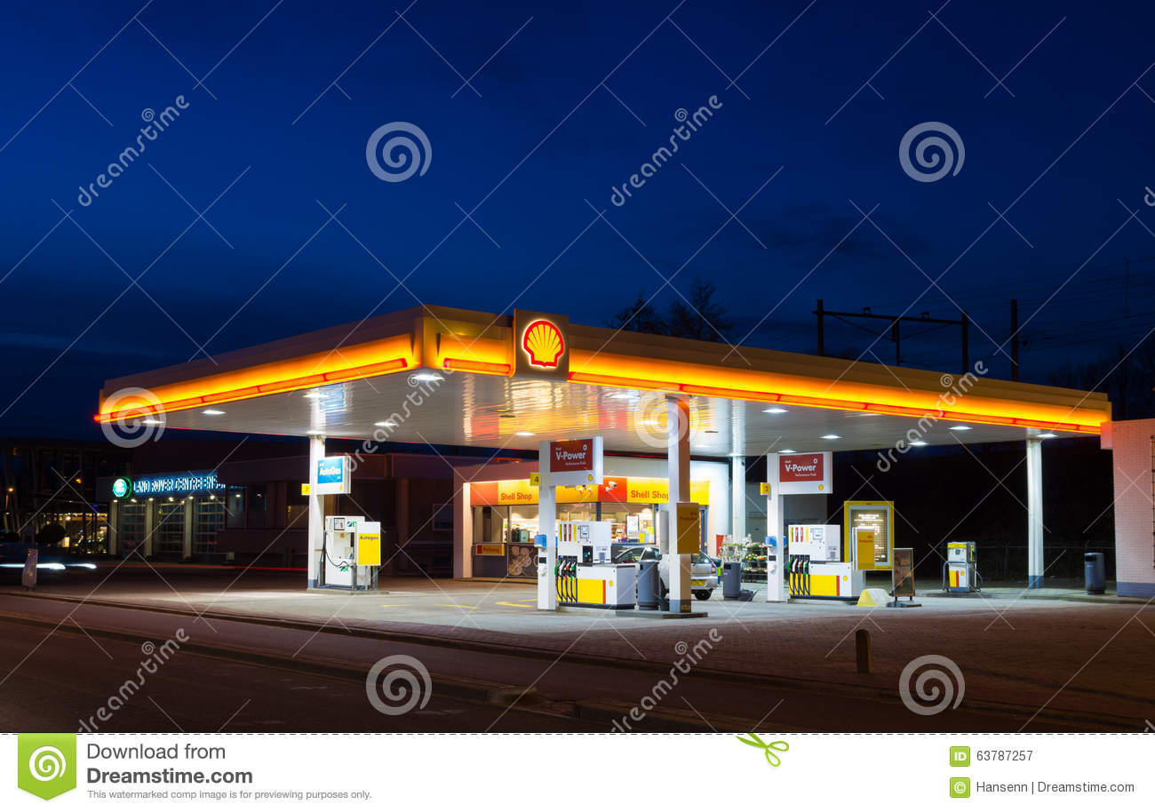 gas station at night editorial photography image 63787257