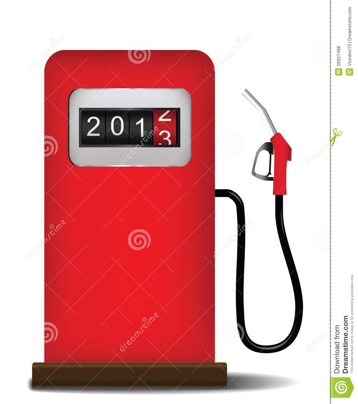 Gas Station Pump With Fuel Nozzle Royalty Free Stock Photos - Image ...