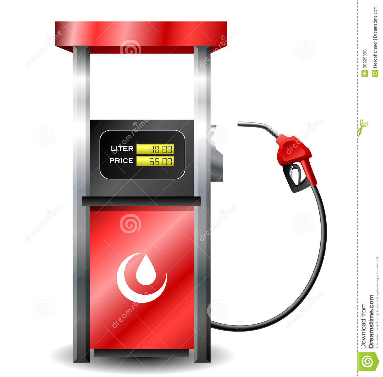 gas station pump with fuel nozzle stock vector