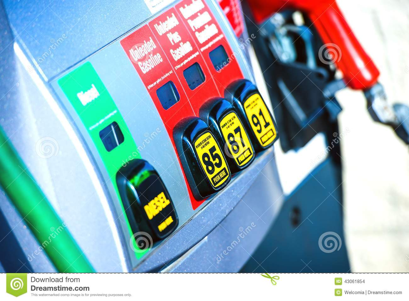 Gas Station Pump Stock Photo
