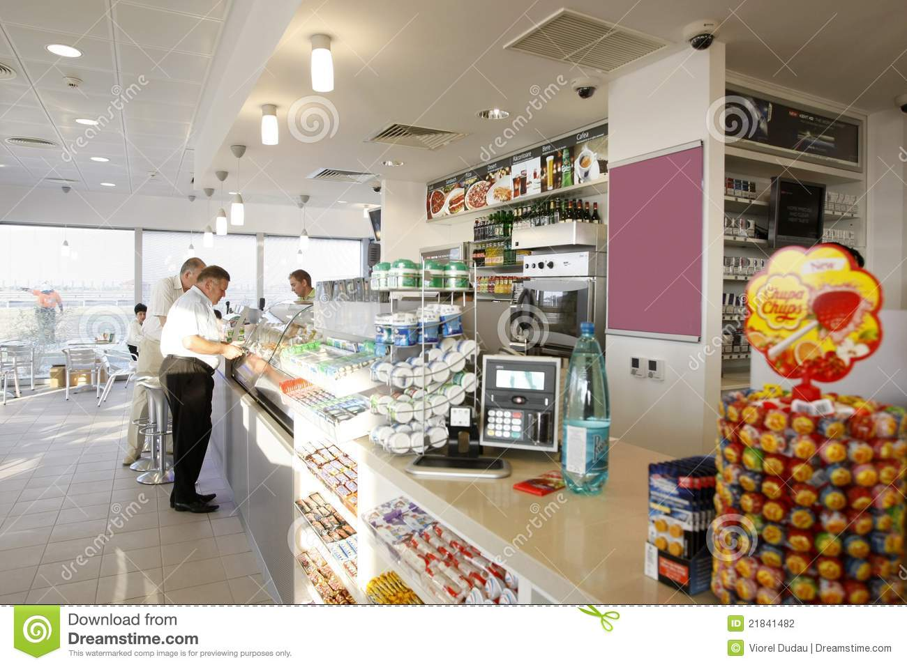 Gas Station Shop Interior
