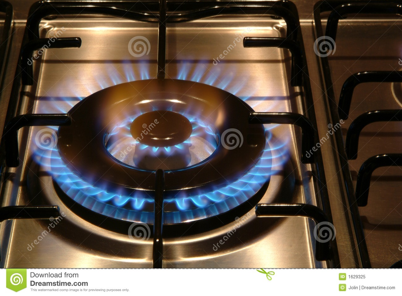 Gas Stove Burning Royalty Free Stock Photo - Image: 1629325