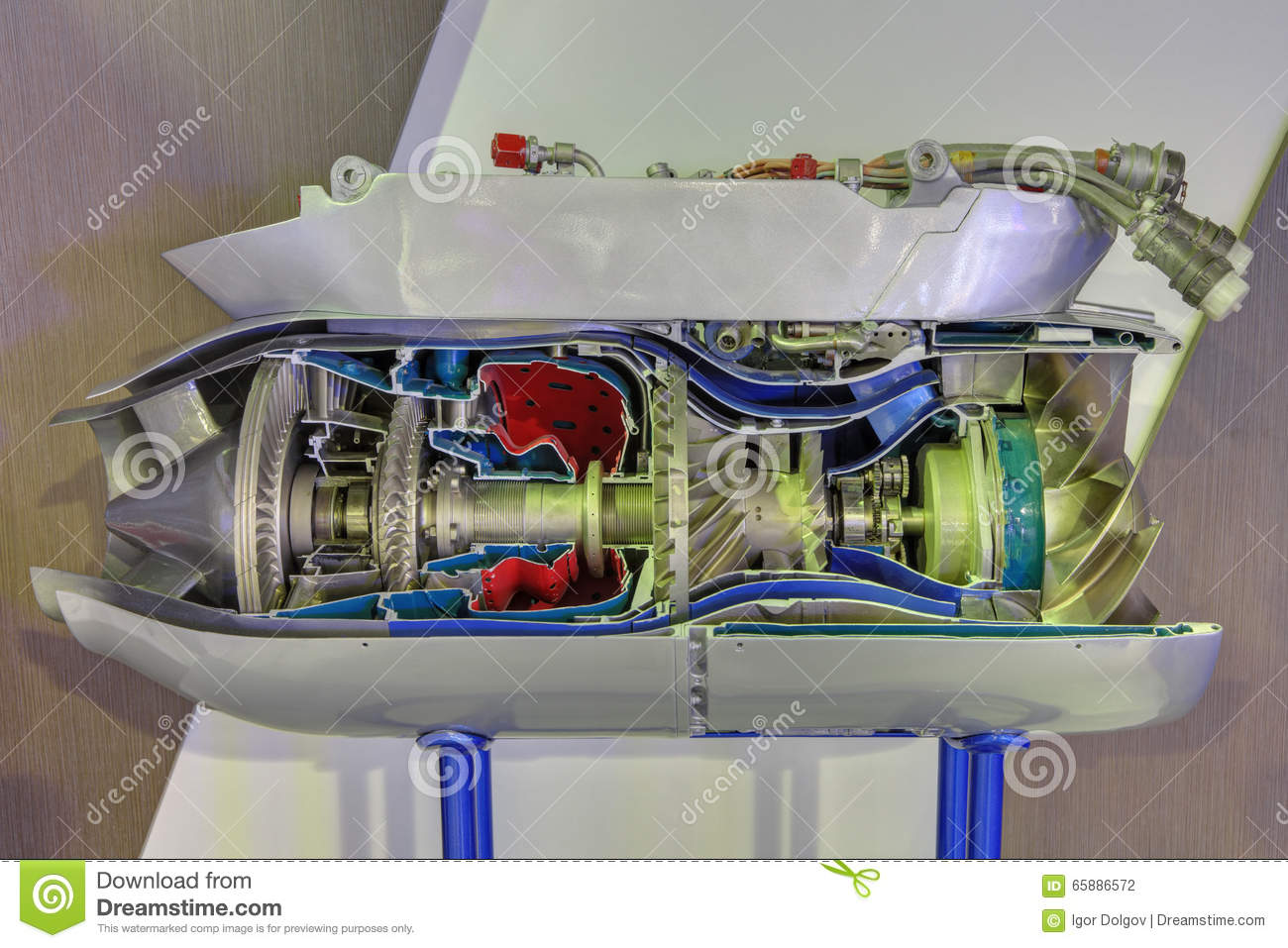 Gas turbine engine stock photo  Image of complexity, complex