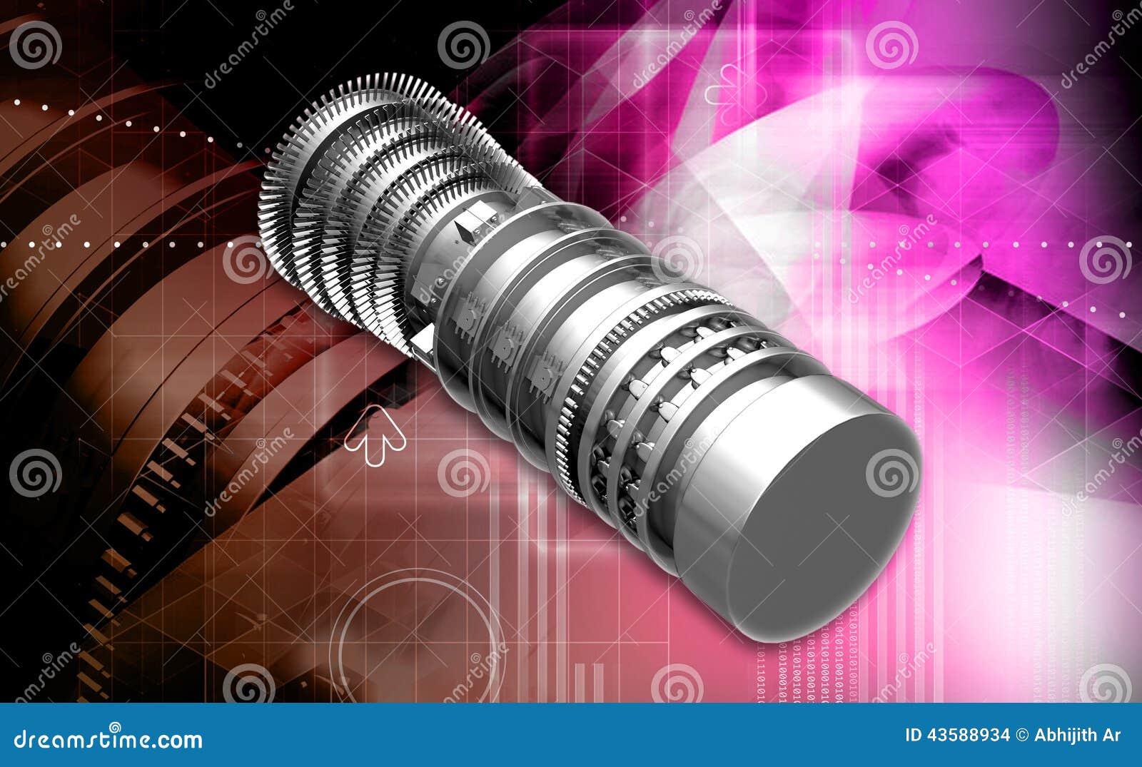 Gas Turbine jet engine propulsion blades
