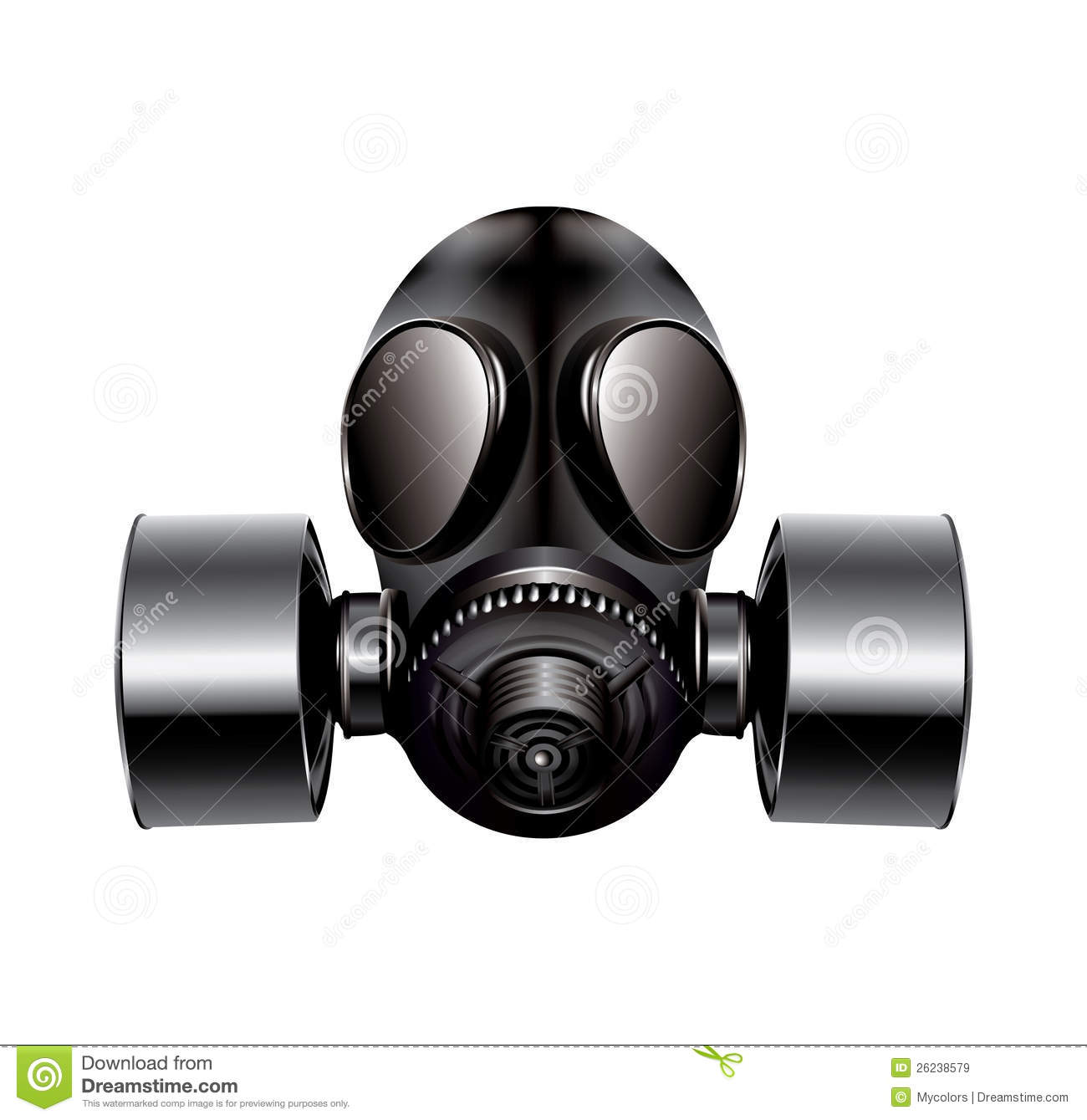 Gas Mask Silhouette Vector Gas vector mask on whiteGas Mask Silhouette Vector