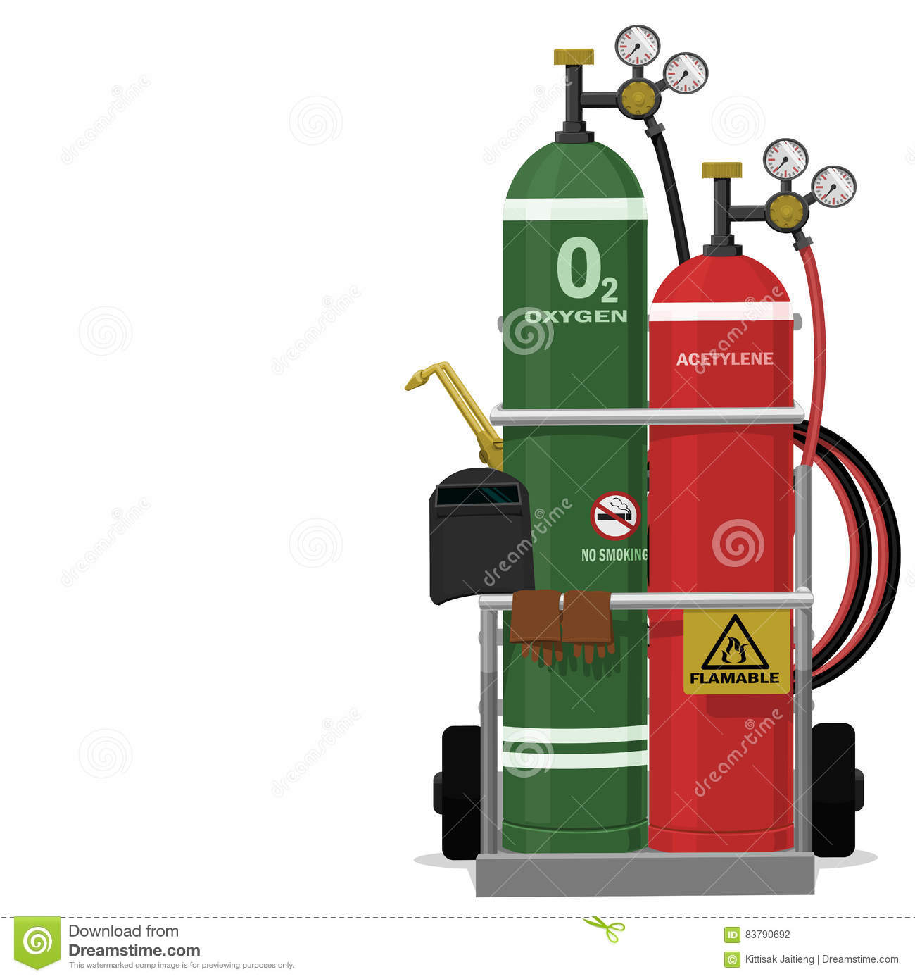 Gas Welding Equipment Stock Photo Image Of 83790692 Diagram