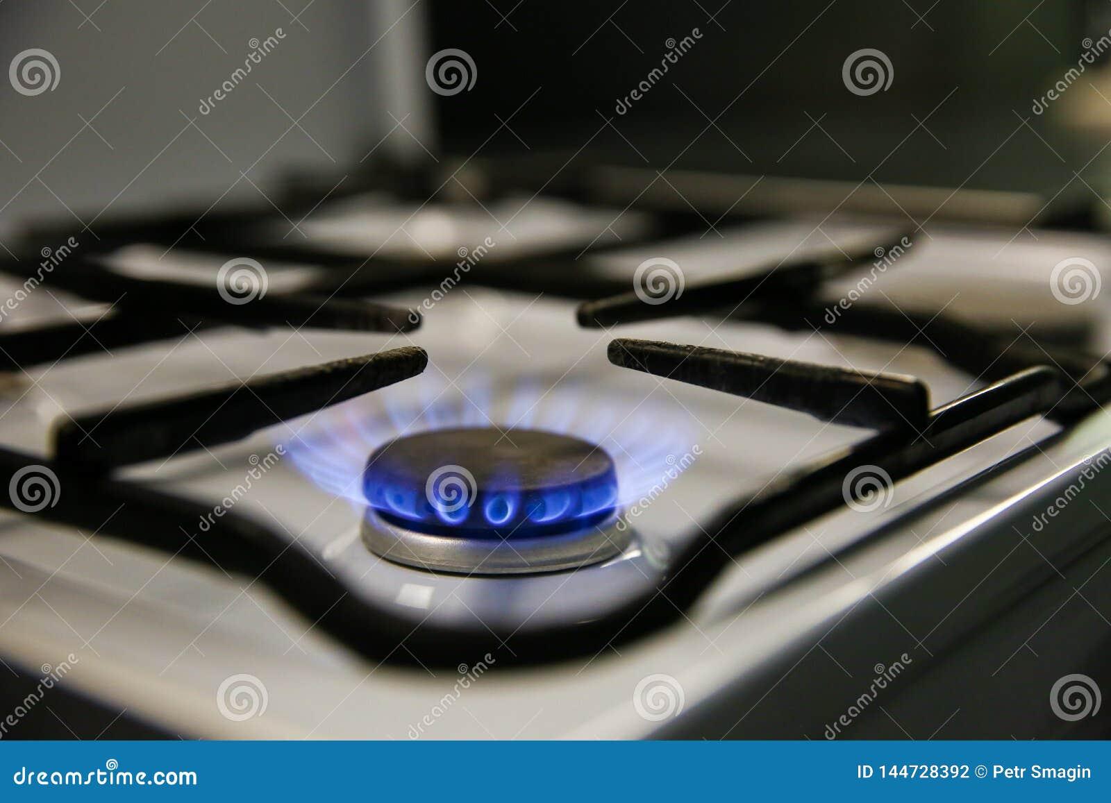 Gasbrände auf dem Küchenofen