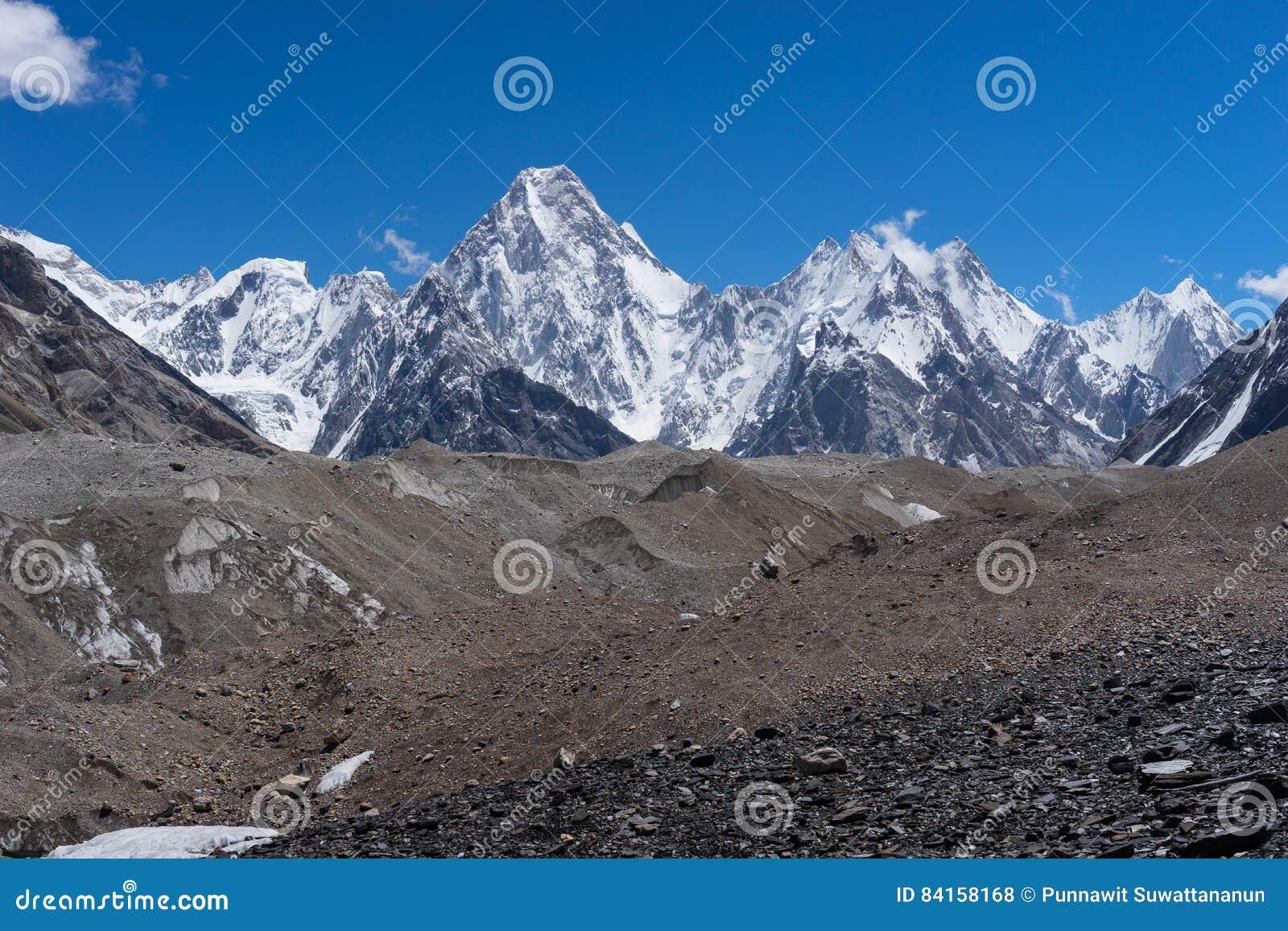 Gasherbrum masywu góra, Karakorum pasmo górskie, K2 wędrówka, P