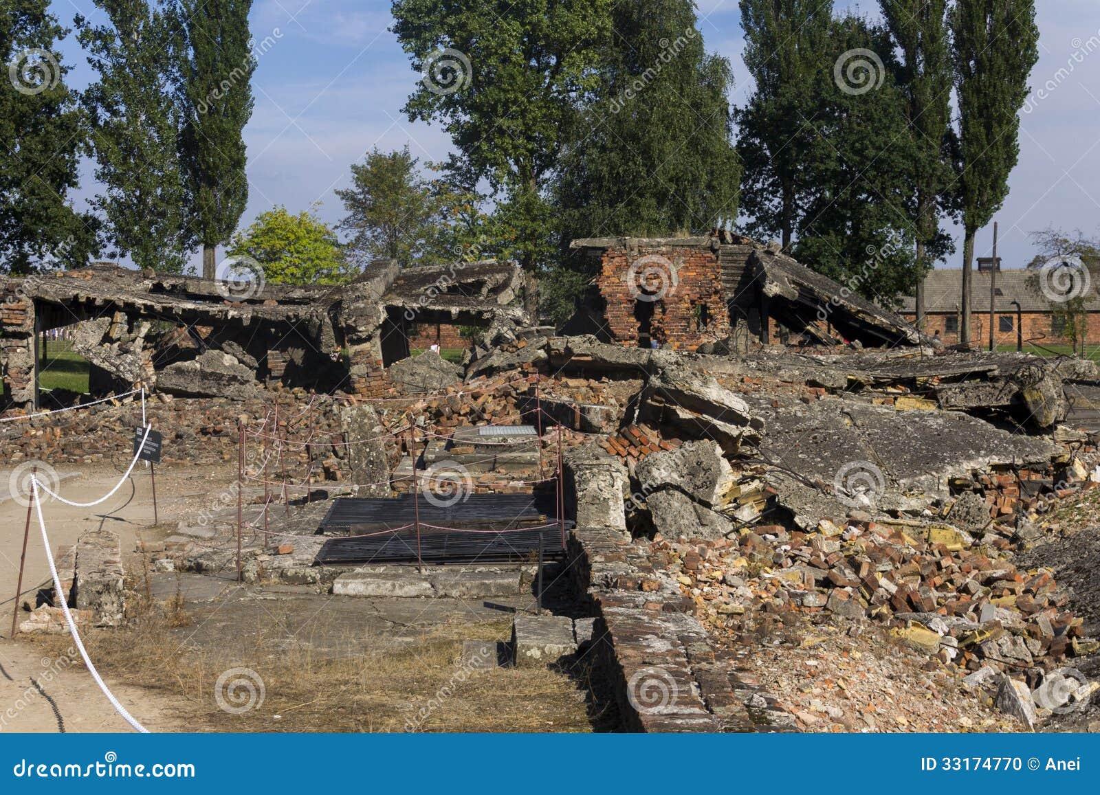 Gaskamer 2 ru nes in auschwitz ii birkenau redactionele for Camarade de chambre