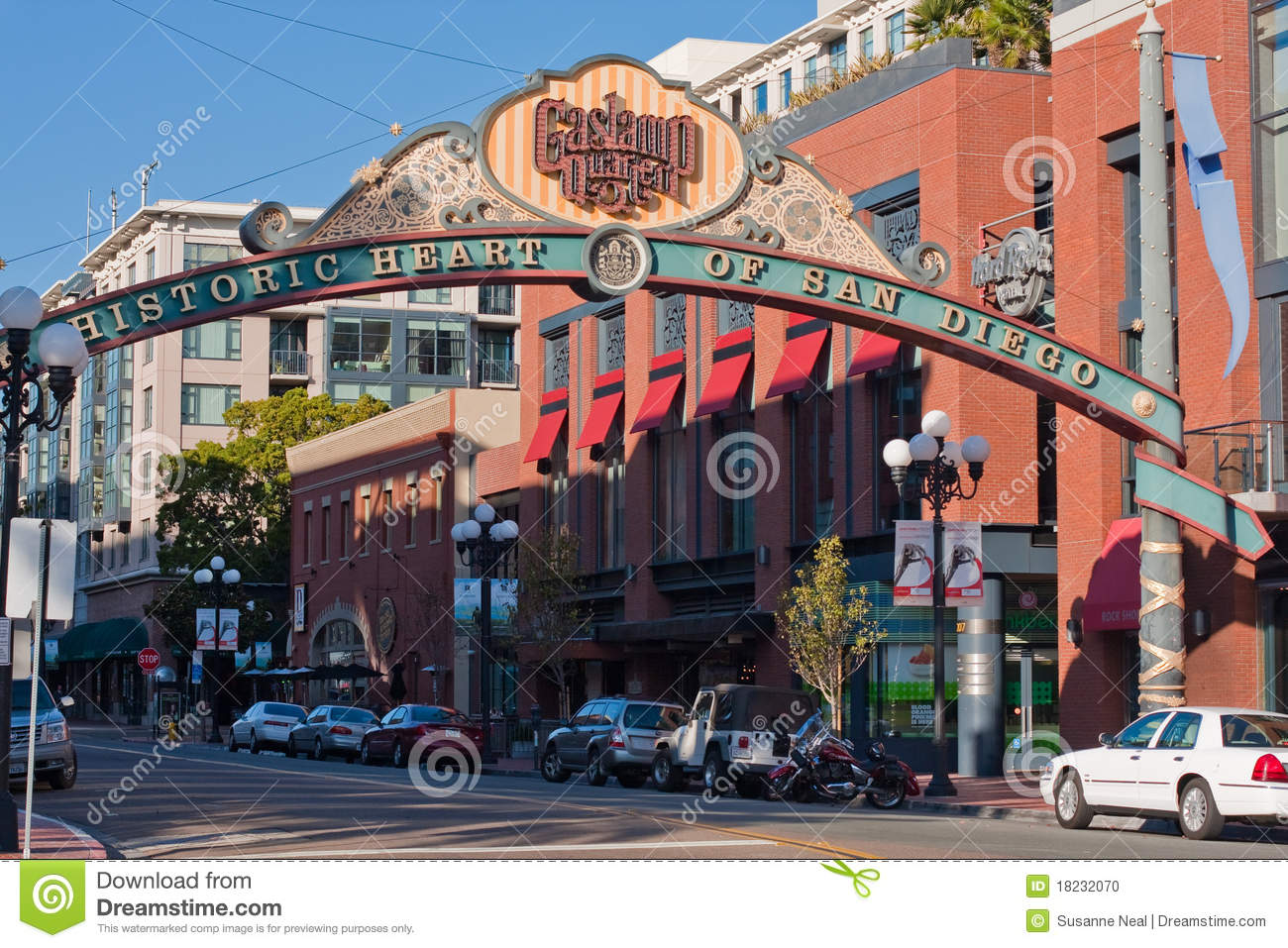 San Diego Nightlife District Royalty-Free Stock Photo ...